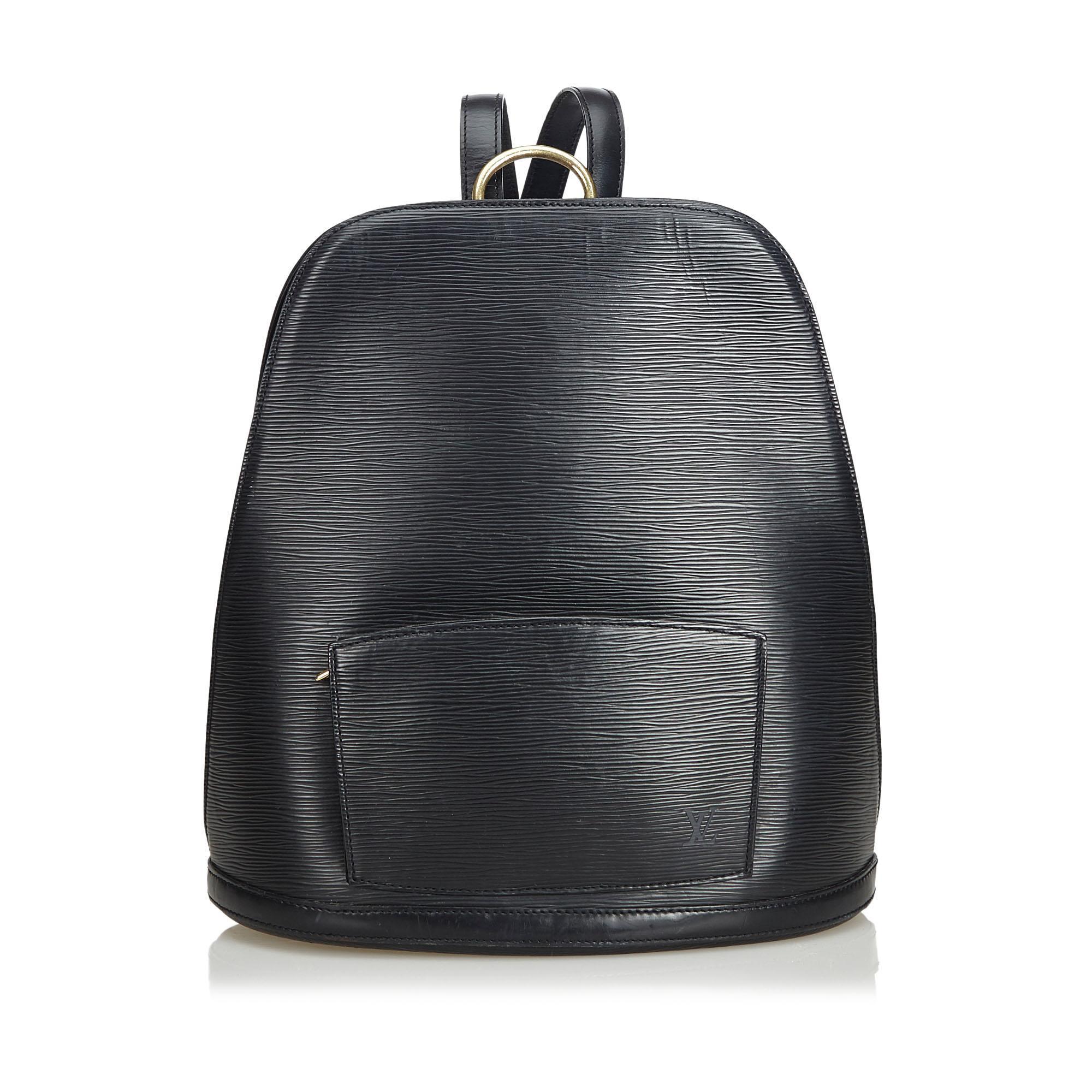 381741fb68fd Lyst - Louis Vuitton Epi Gobelins in Black