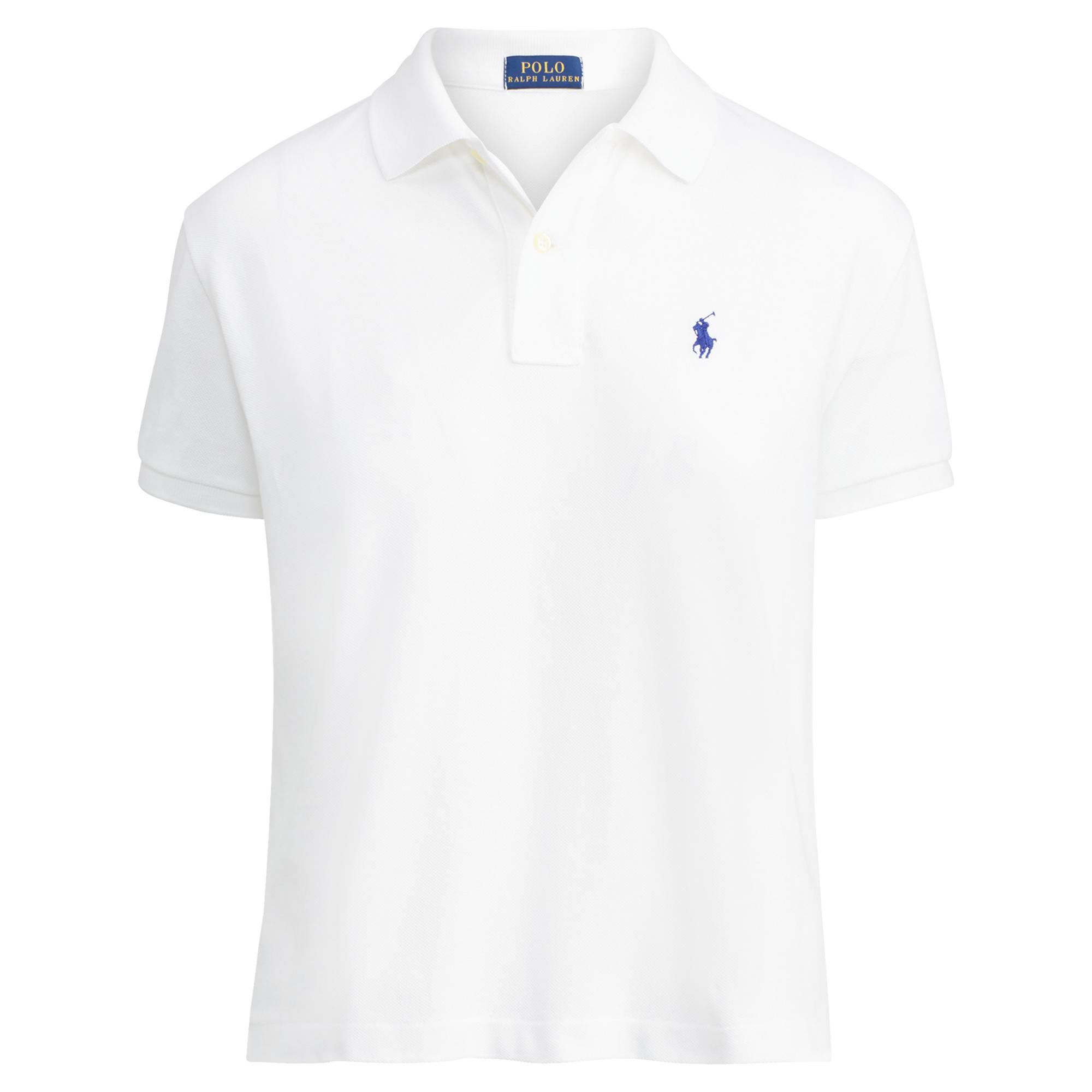 Lyst - Polo Ralph Lauren Cropped Cotton Mesh Polo in Blue fd7c6b4f491
