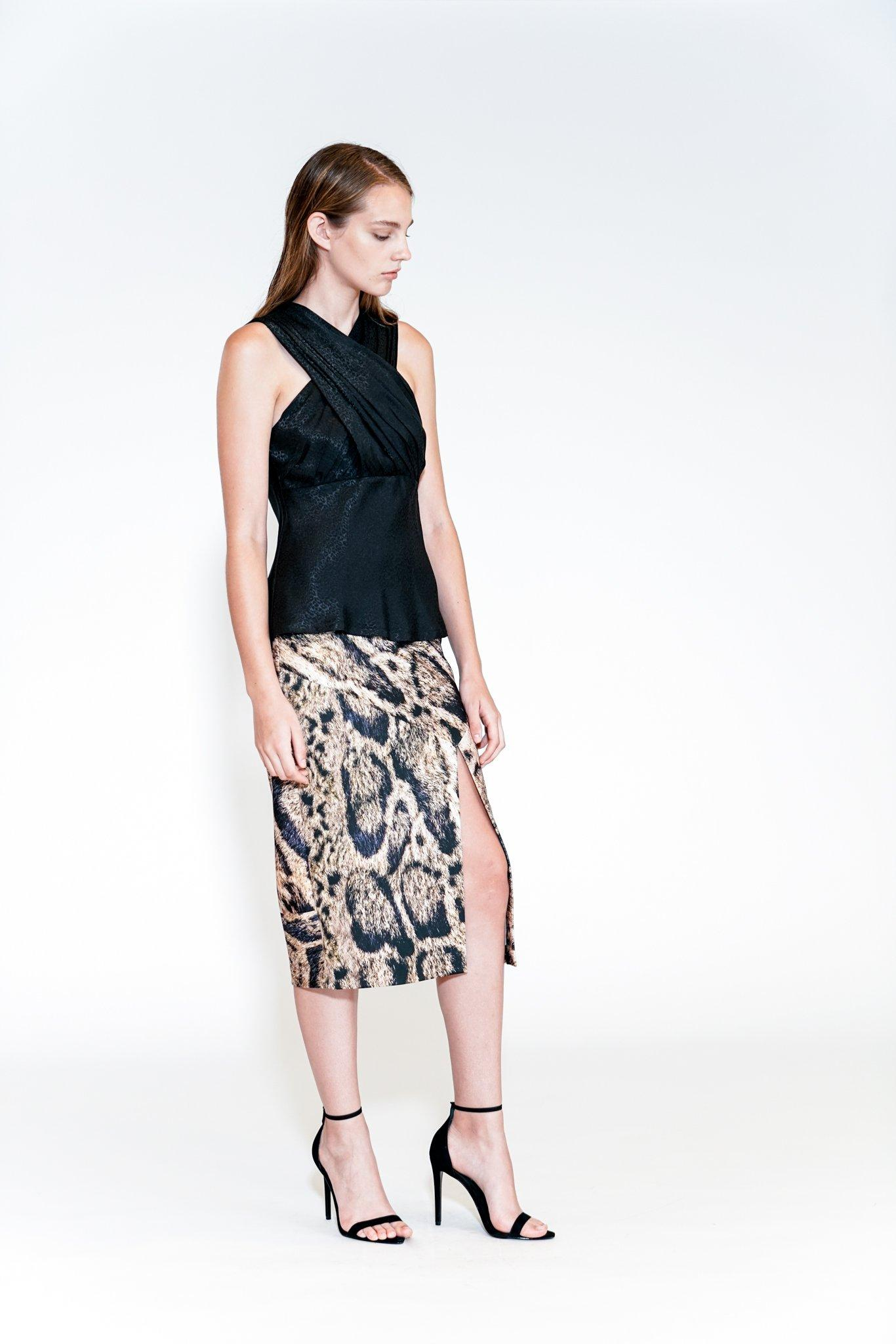 Yigal Azrouel Womens Printed Maxi Skirt