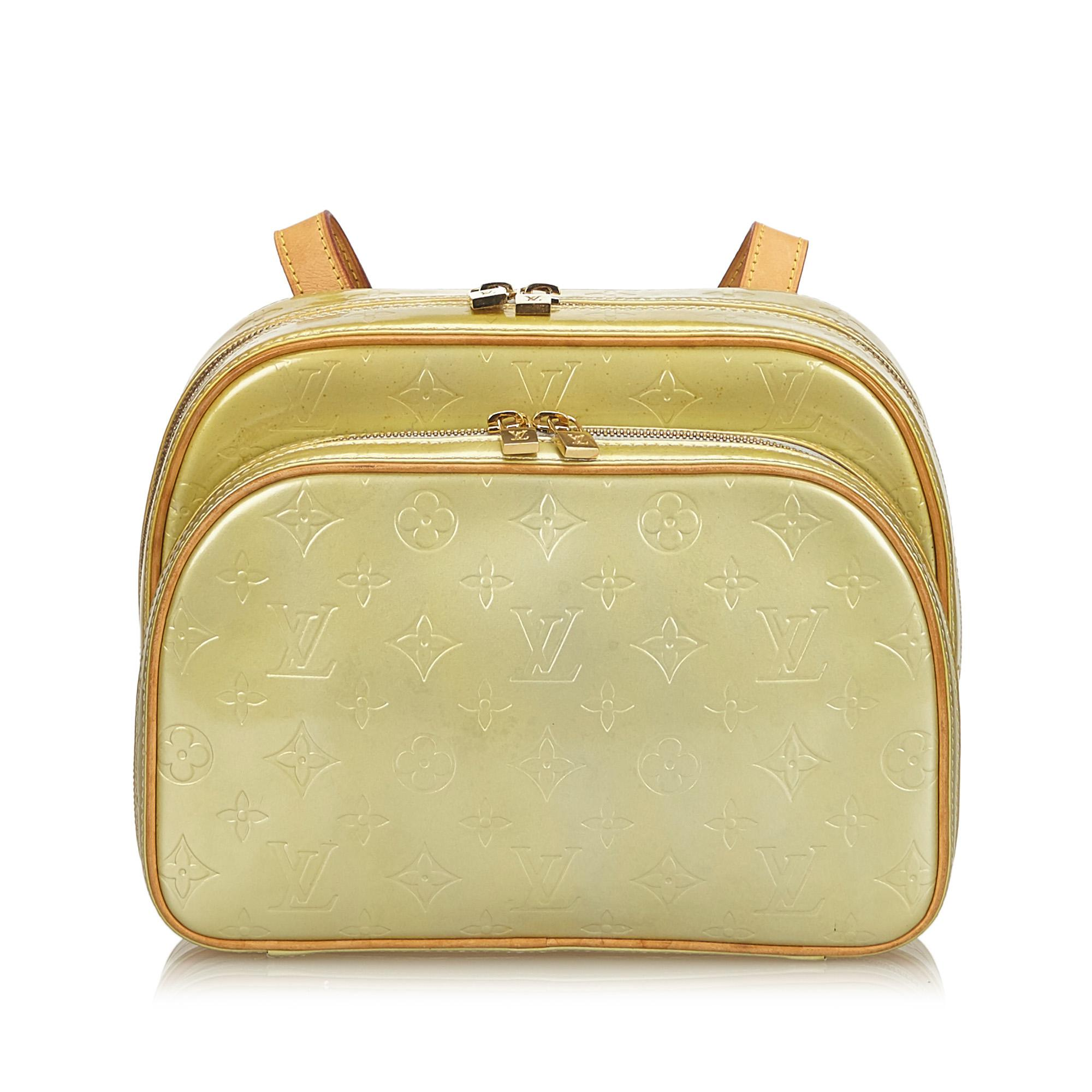 3d04c743c88e Lyst - Louis Vuitton Vernis Murray Backpack in Yellow