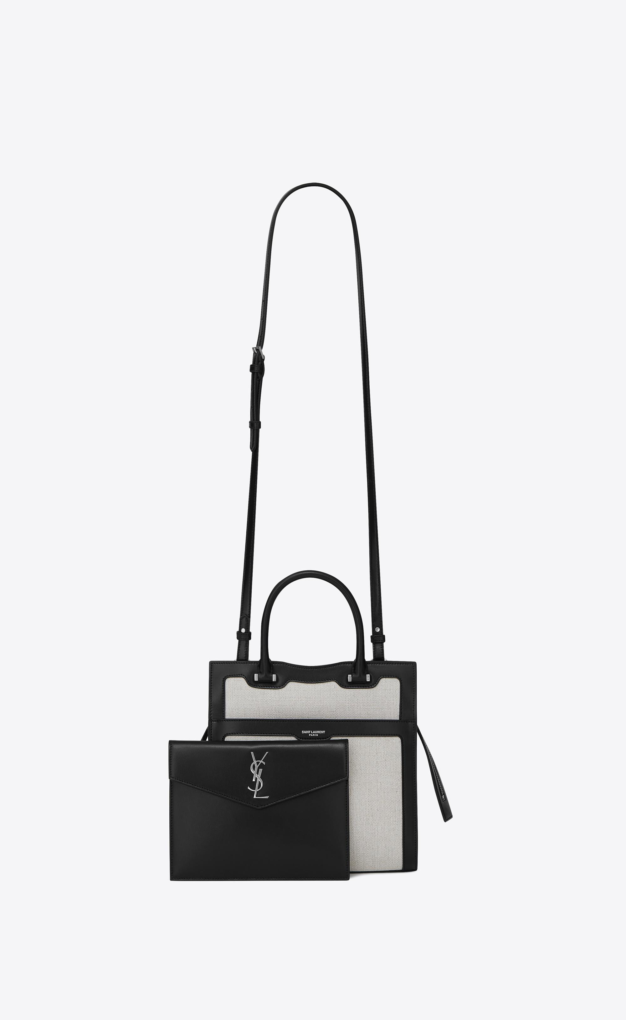 Lyst - Saint Laurent Small Uptown Tote in Natural bb27ac111c349