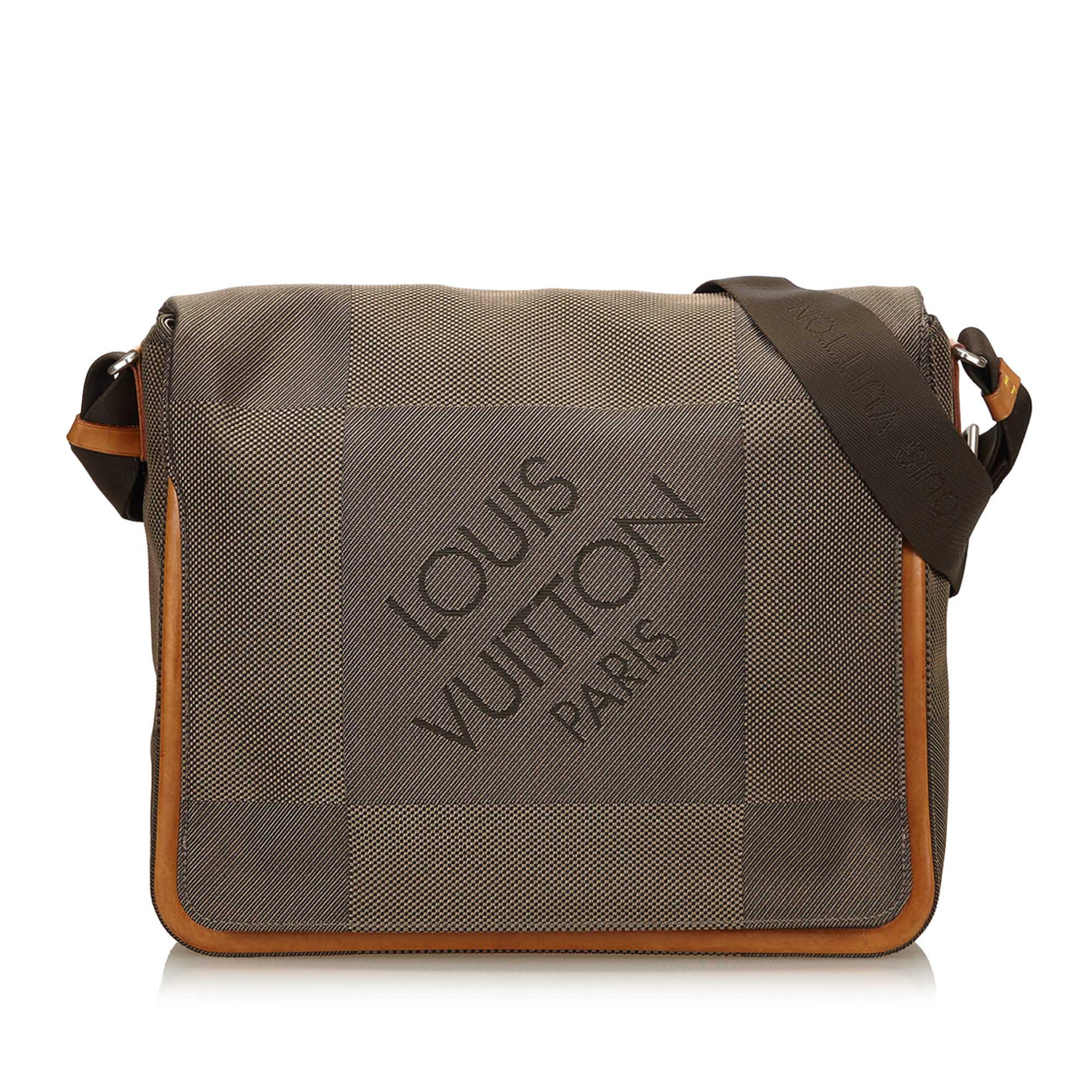 dd692d9e1f66 Louis Vuitton - Brown Terre Damier Geant Canvas Messenger Bag - Lyst. View  fullscreen