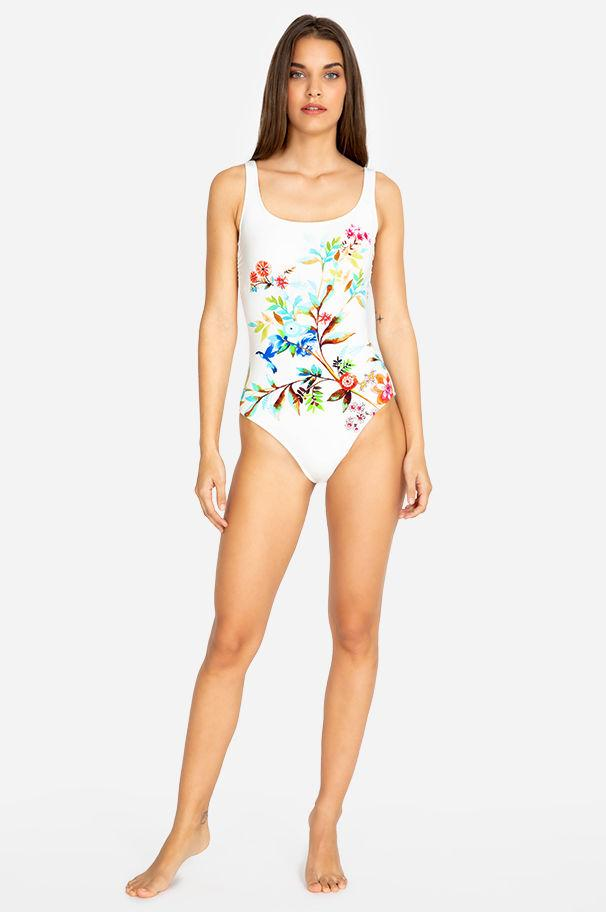 b7df1c0324 Lyst - Johnny Was Lei Floral Tank Suit