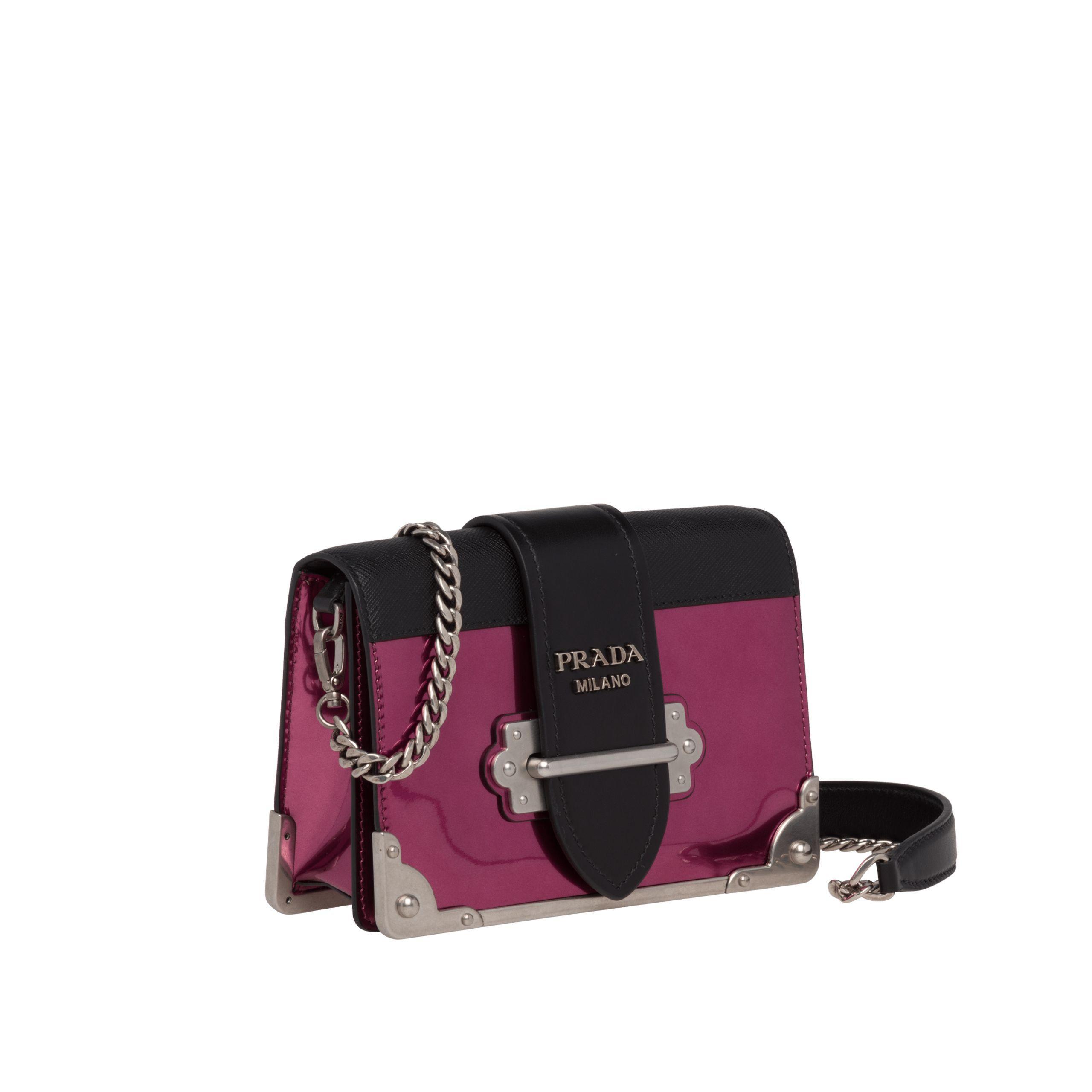 cbd9205bc194 Prada - Multicolor Cahier Leather Shoulder Bag - Lyst. View fullscreen