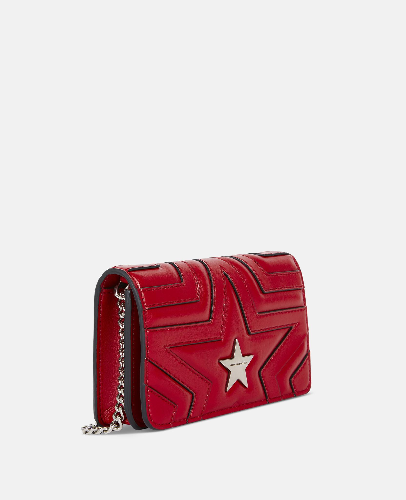 Lyst - Stella McCartney Stella Star Small Flap-over Shoulder Bag in Red -  Save 30% 2e18d40c0352f