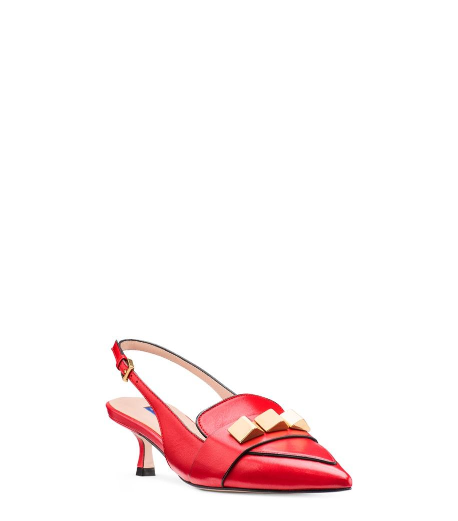ed30bc0a669 Stuart Weitzman - Red The Cleo Pyramid 50 Pump - Lyst. View fullscreen