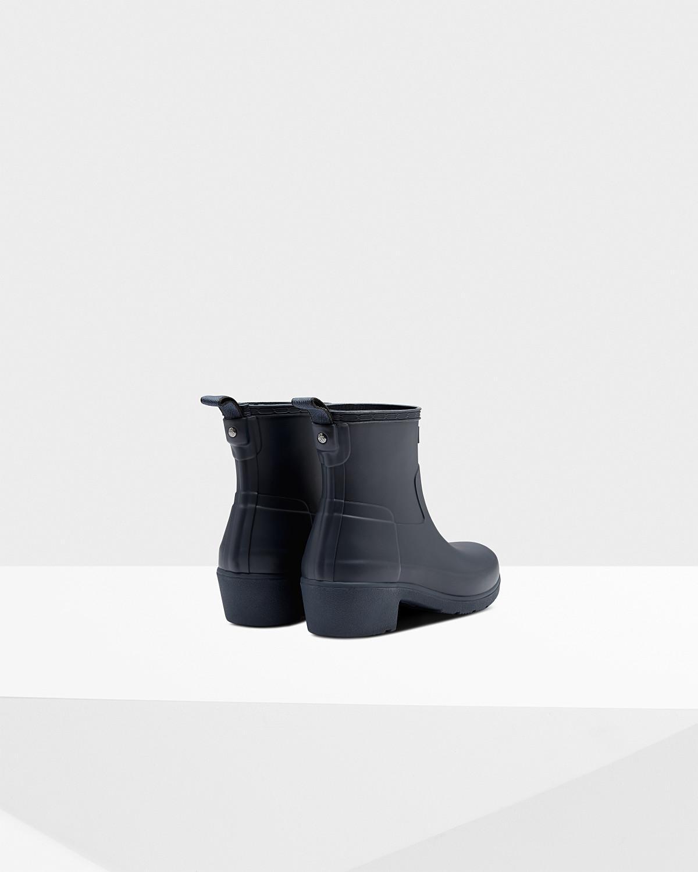 f2ecf996662ce HUNTER Women's Original Refined Low Heel Ankle Boots in Blue - Lyst