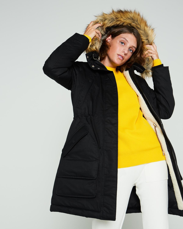 5c53f188ea83f Lyst - HUNTER Women's Original Insulated Parka Jacket in Black