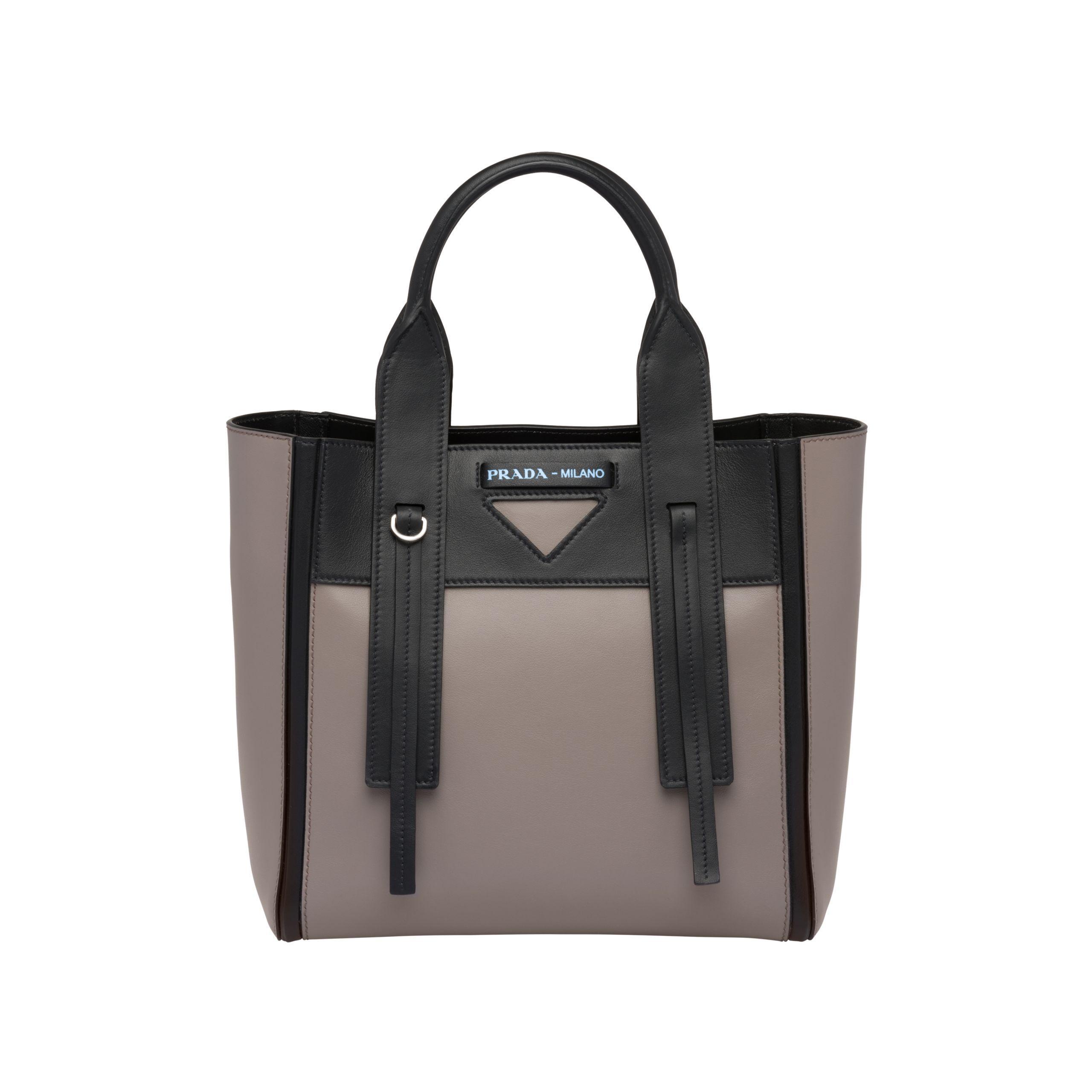 79e78e78f3 Lyst - Prada Ouverture Small Leather Bag in Black