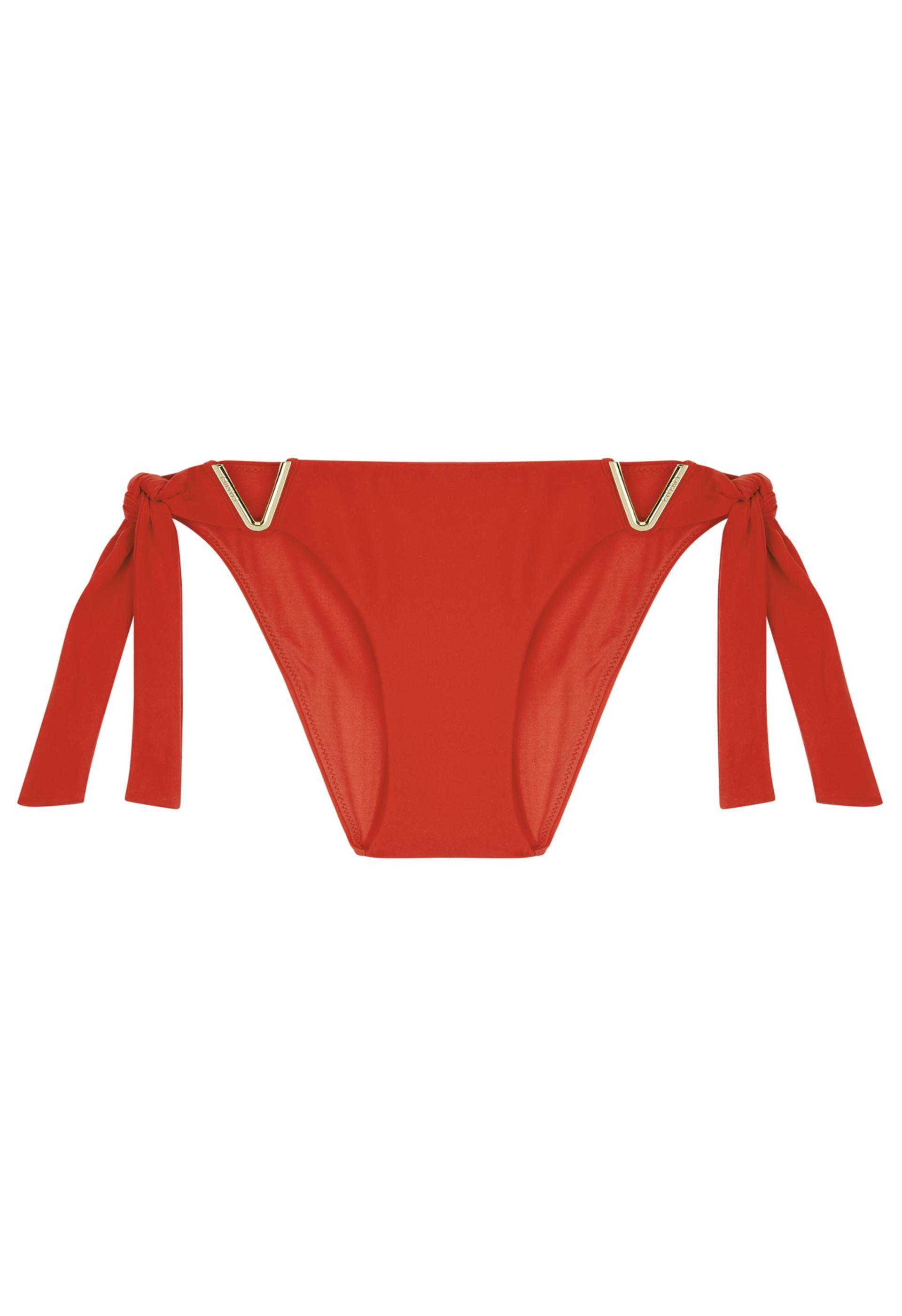 b8c61865690f5 Lyst - La Perla Aquamarine Tango Red Side-tie Bikini Briefs With  v ...