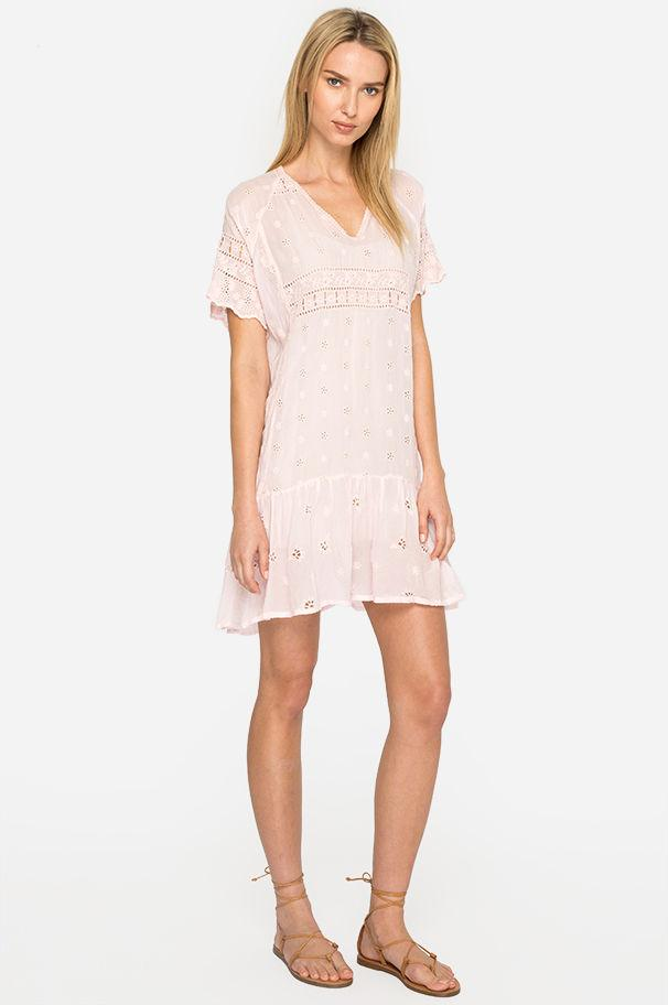 b87986695ad6 Lyst - Johnny Was Berry Tunic Dress in Pink