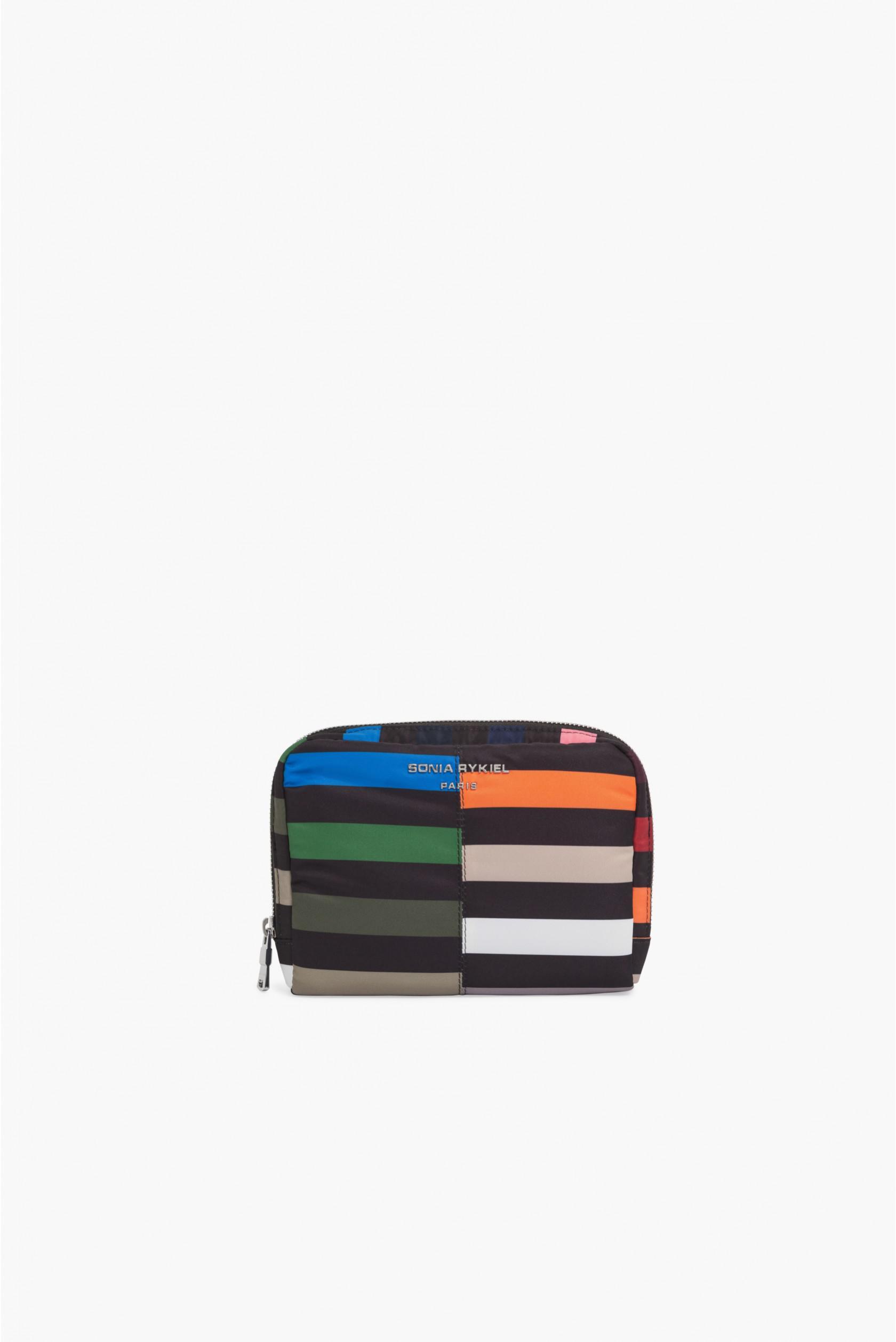 857ef38d8 Sonia Rykiel Forever Nylon Multicolored Zip Pencil Case in Blue - Lyst