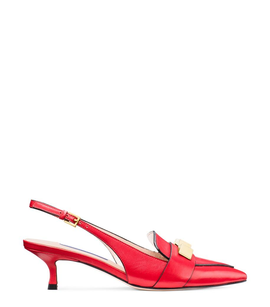 ee9cfc4c852 Stuart Weitzman. Women s Red The Cleo Pyramid 50 Pump.  450 From Orchard  Mile