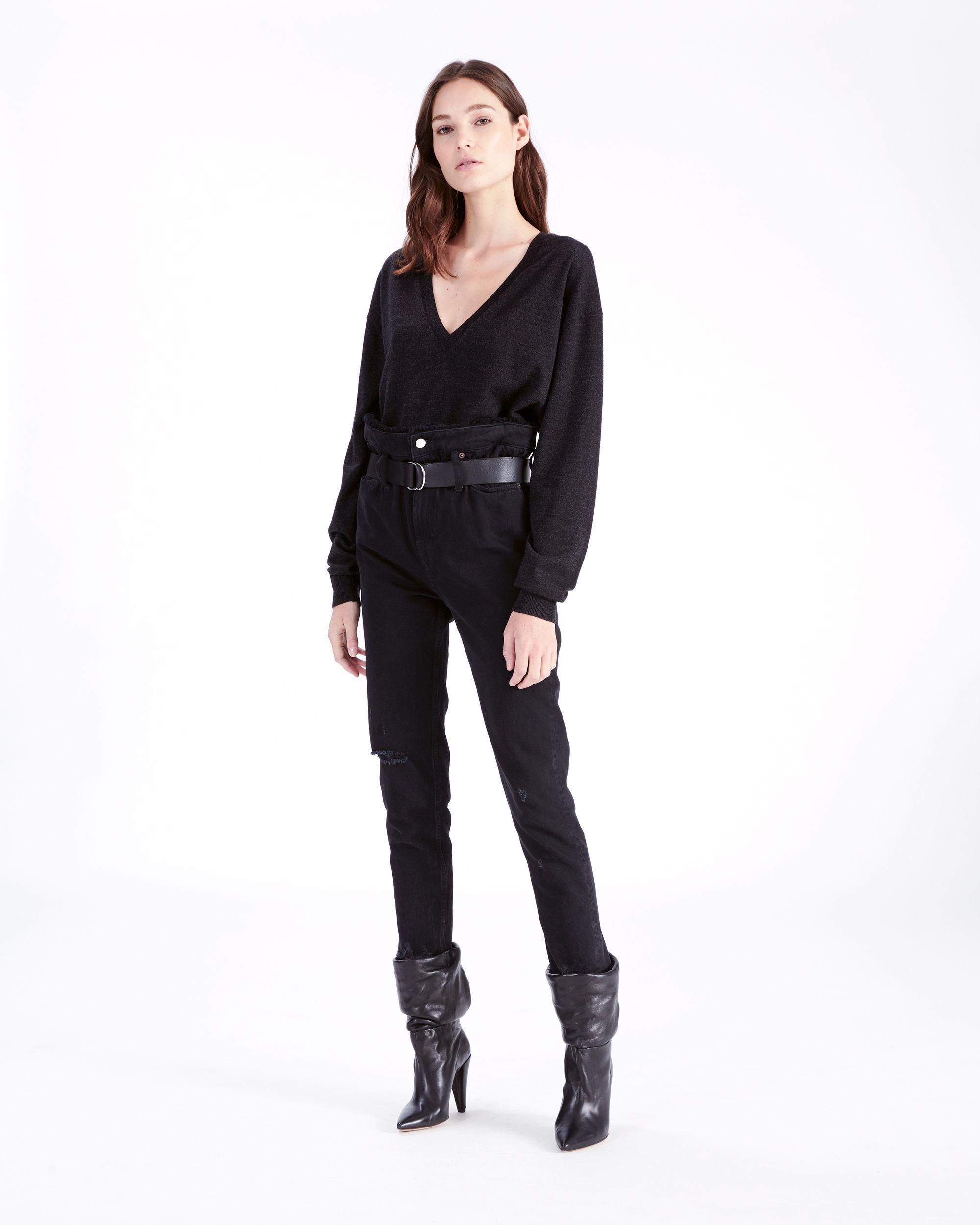 Aran In Black Sweater Lyst Iro B6wqAWznf