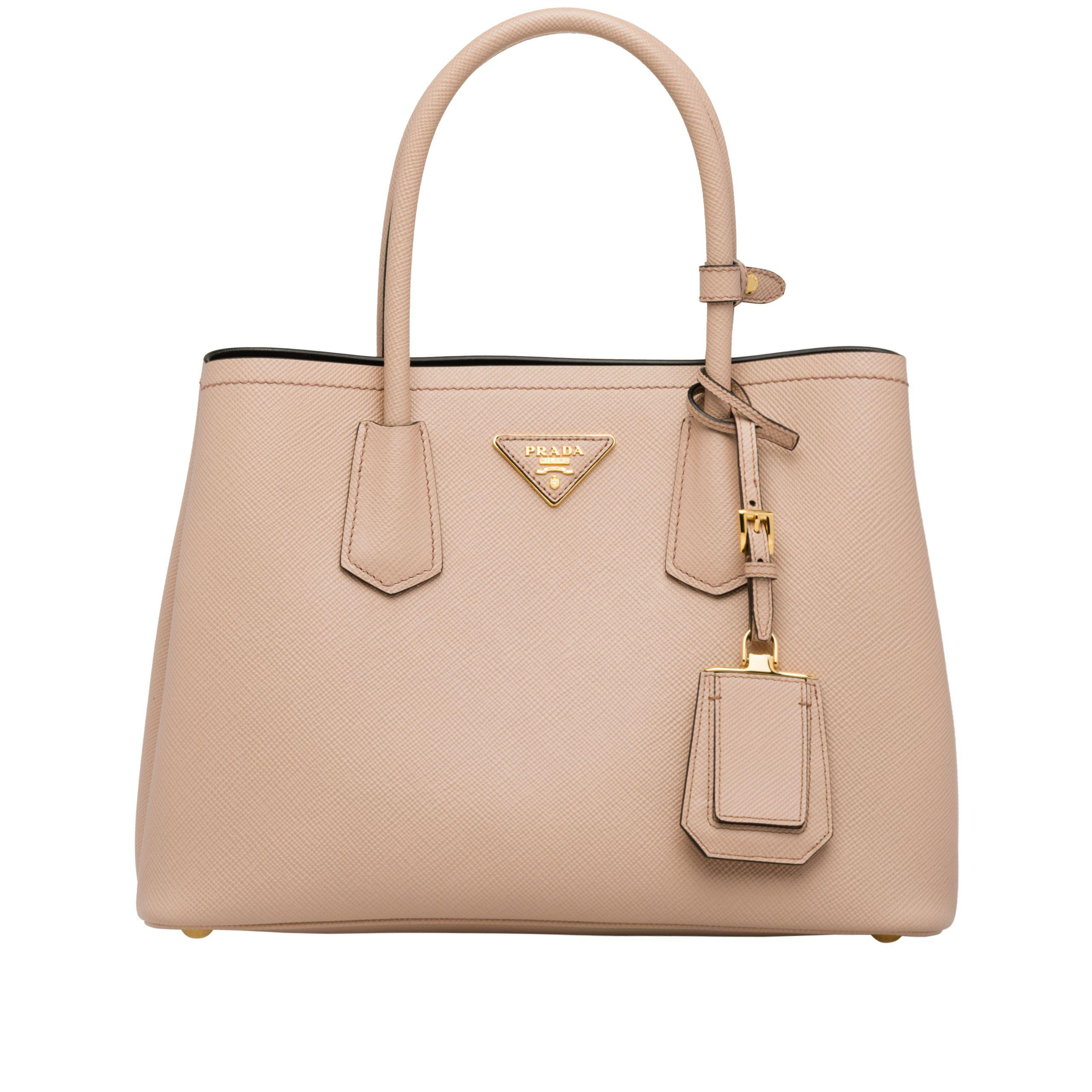 dce9daf16555 Prada - Natural Double Small Bag - Lyst. View fullscreen