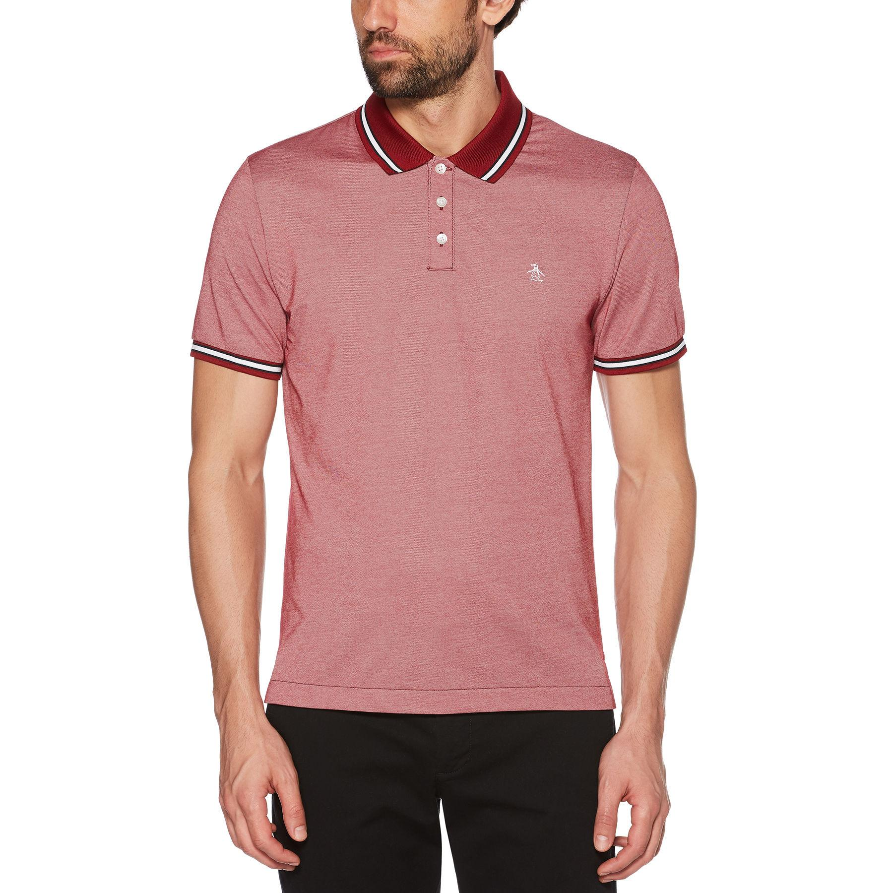 8f3a0691 Lyst - Original Penguin Tipped Pique Polo in Red for Men - Save 6%