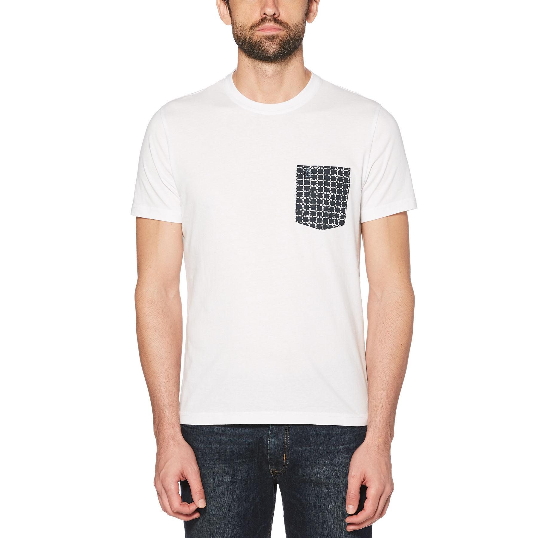 640fb90ea Lyst - Original Penguin Floral Grid Pocket Tee in White for Men