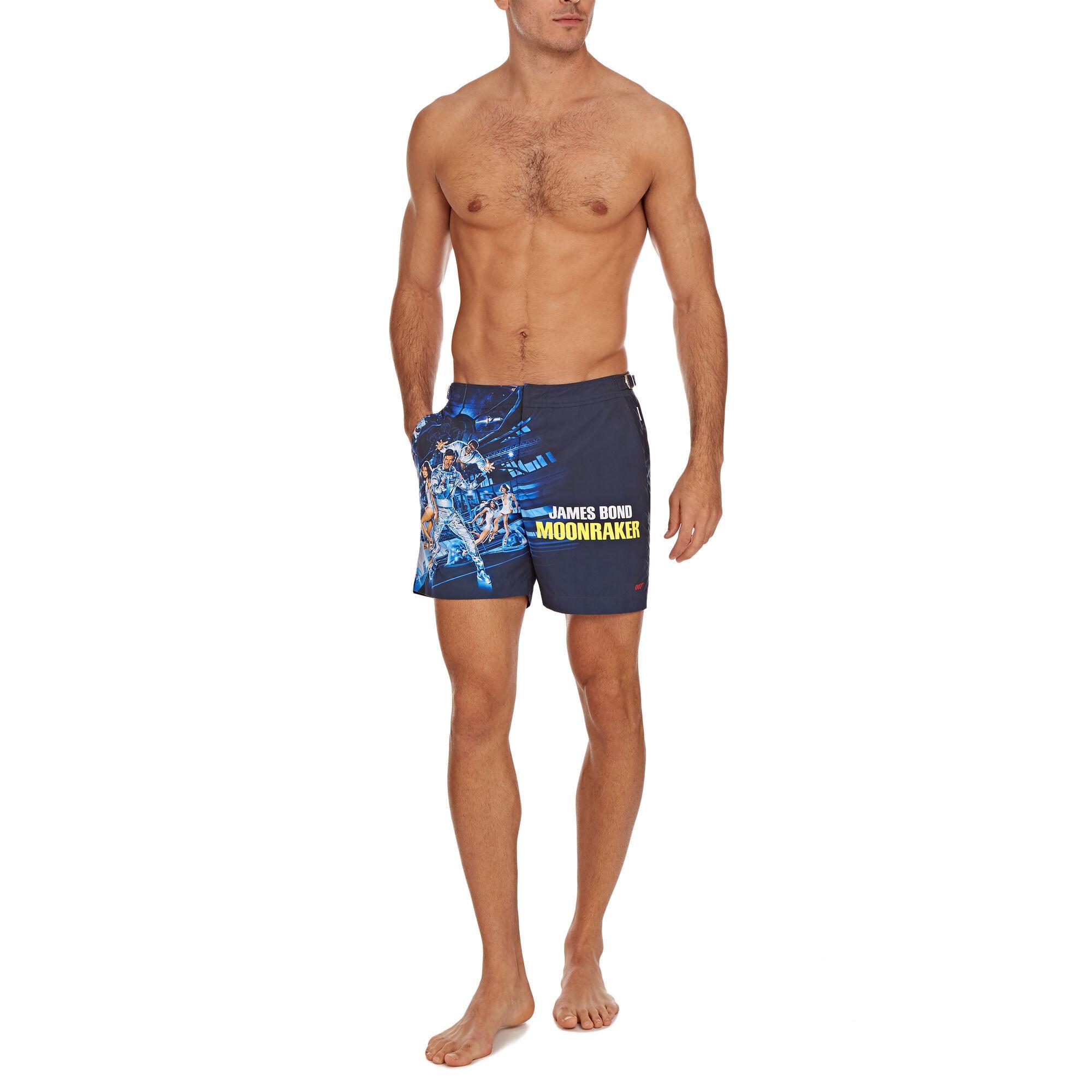 36a9d0649a Orlebar Brown - Blue Moonraker Bulldog 007 Mittellange Badeshorts for Men -  Lyst. View fullscreen