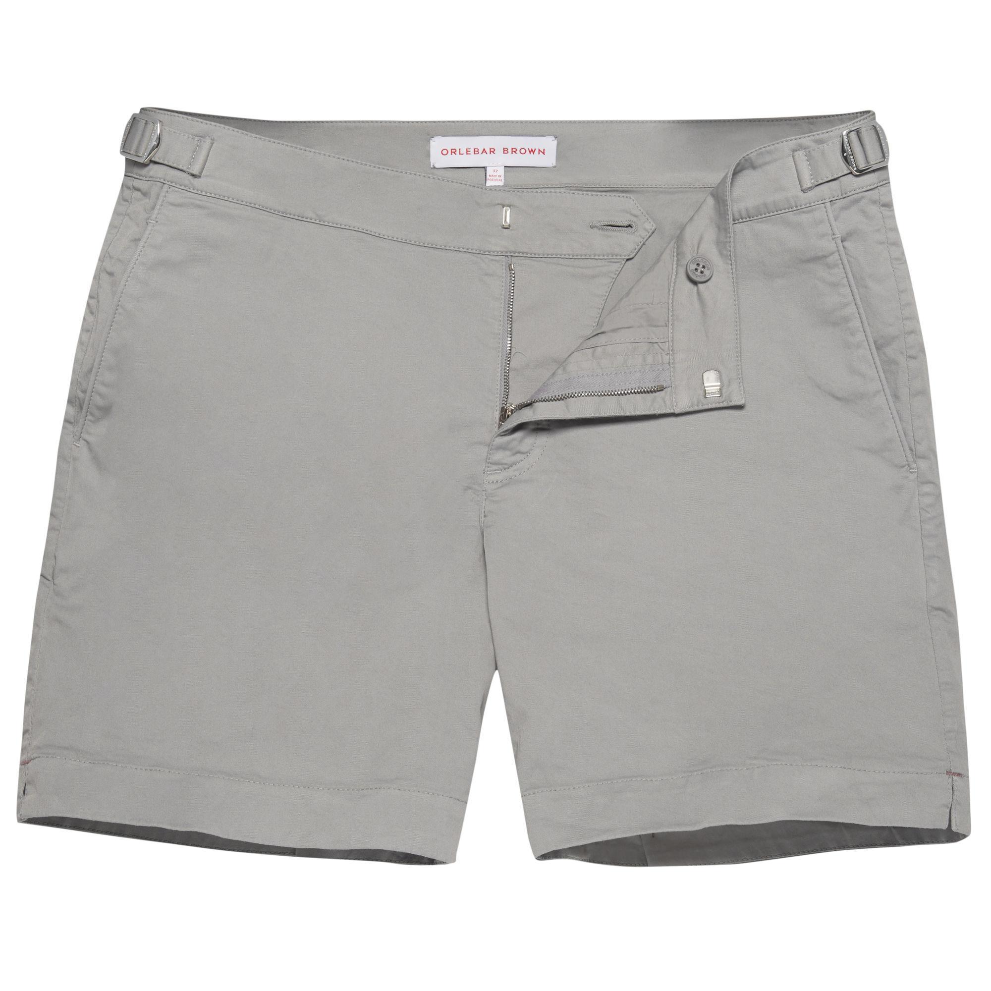 761403088bf62 Orlebar Brown - Gray Bulldog Cotton Twill Ash Mid-length Shorts for Men -  Lyst. View fullscreen