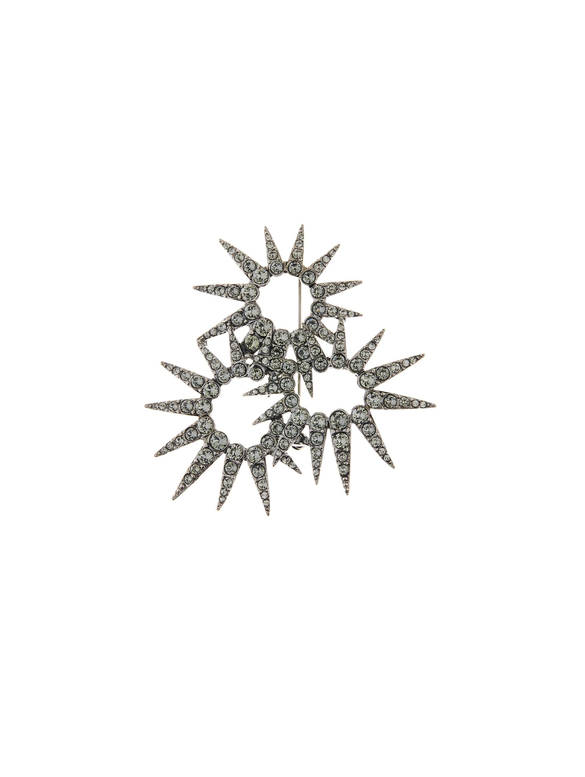 Oscar De La Renta sea urchin crystal brooch - Metallic