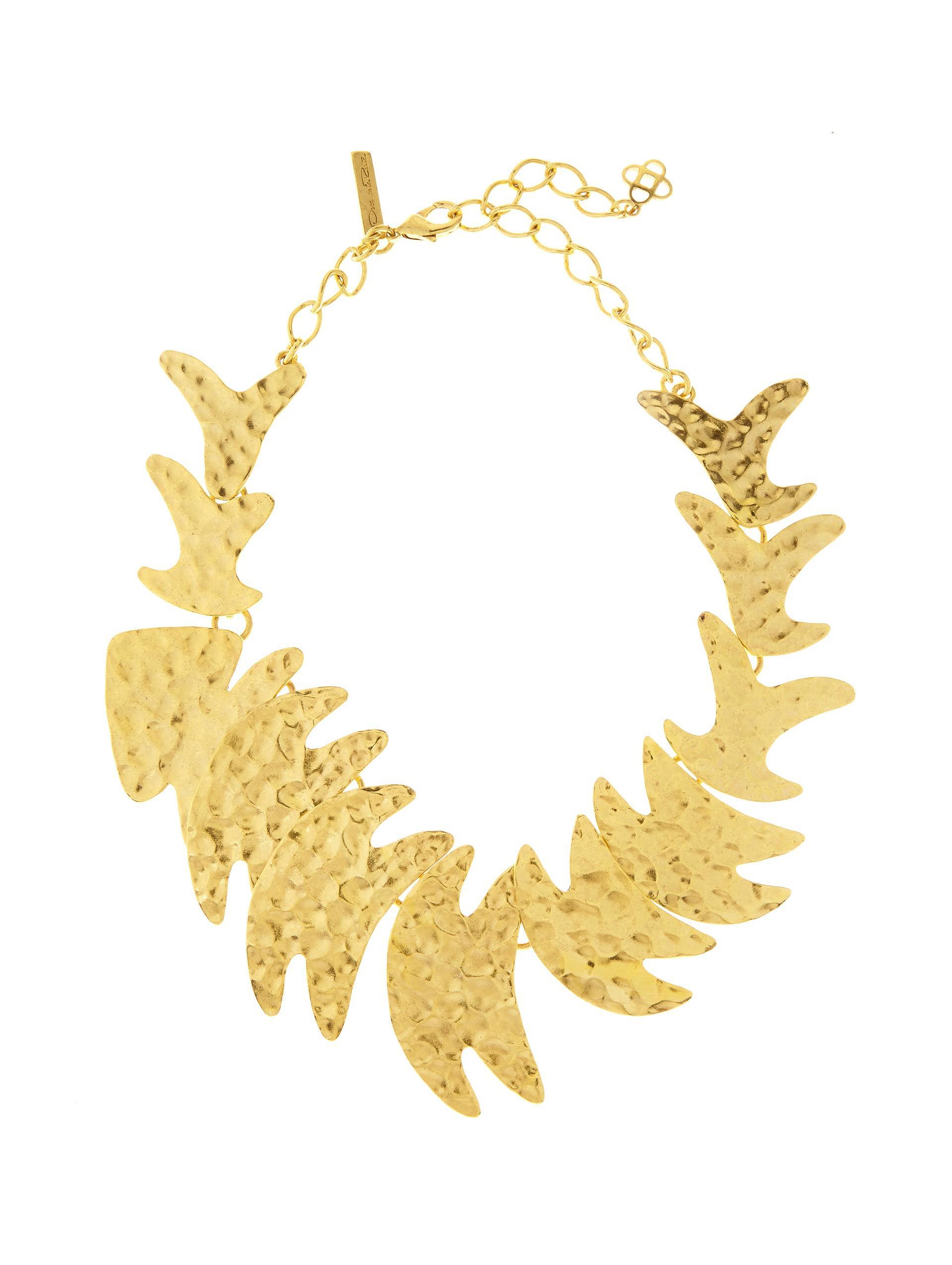 hammered fish necklace - Metallic Oscar De La Renta GKs2KFXx0