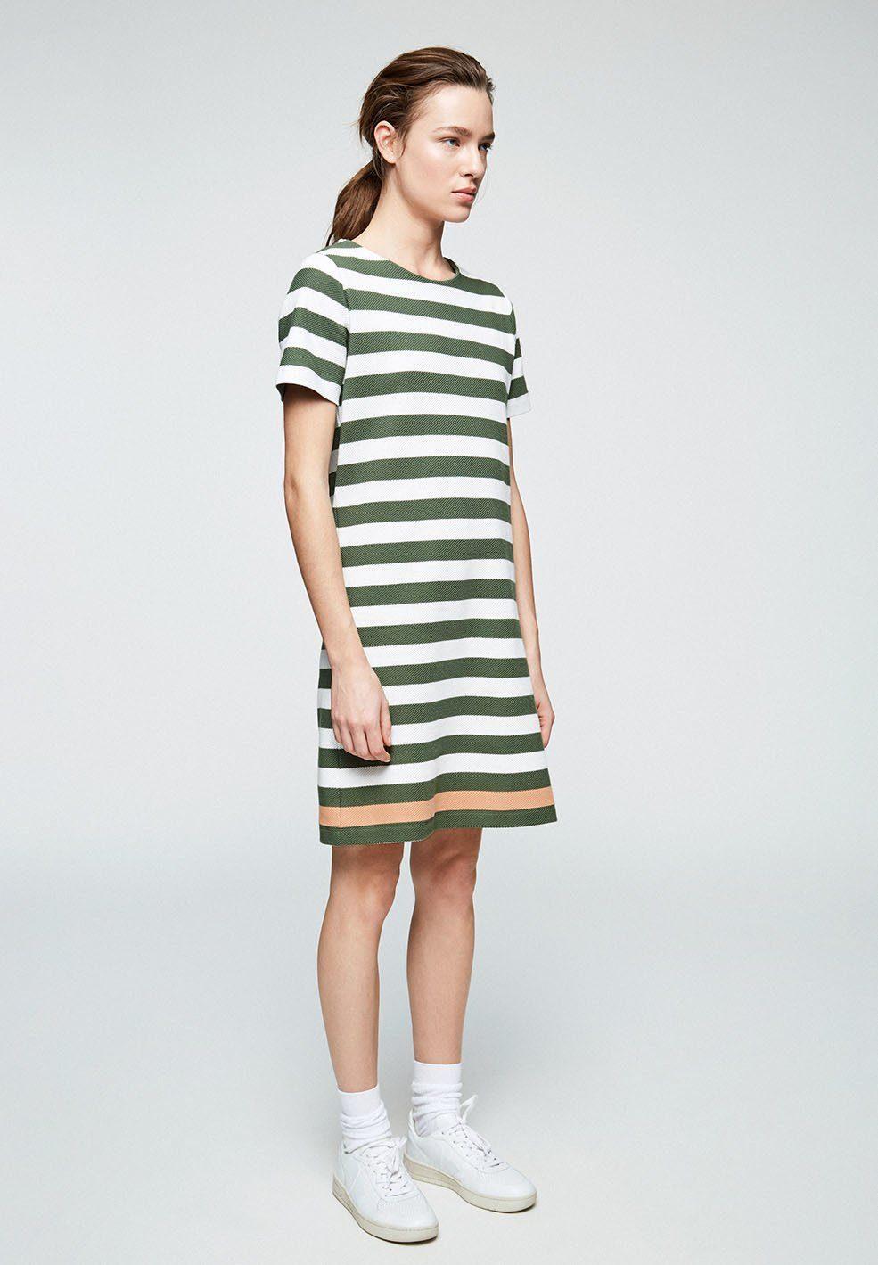 ARMEDANGELS Sweatkleid »SELINAA STRIPES Damen Kleid aus Bio-Baumwolle« GOTS, organic, CERES-08 in Grün
