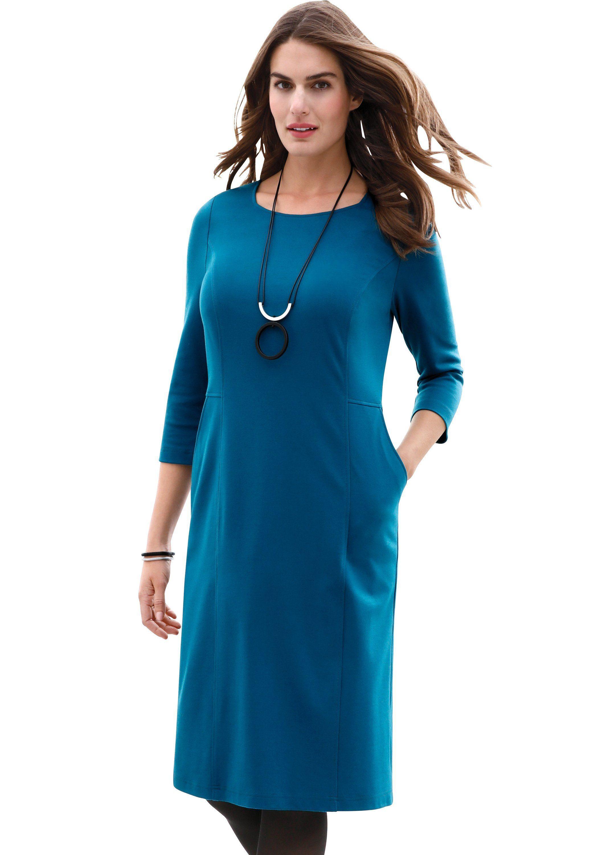 Emilia Lay Synthetik Jerseykleid »knitterarm« in Blau