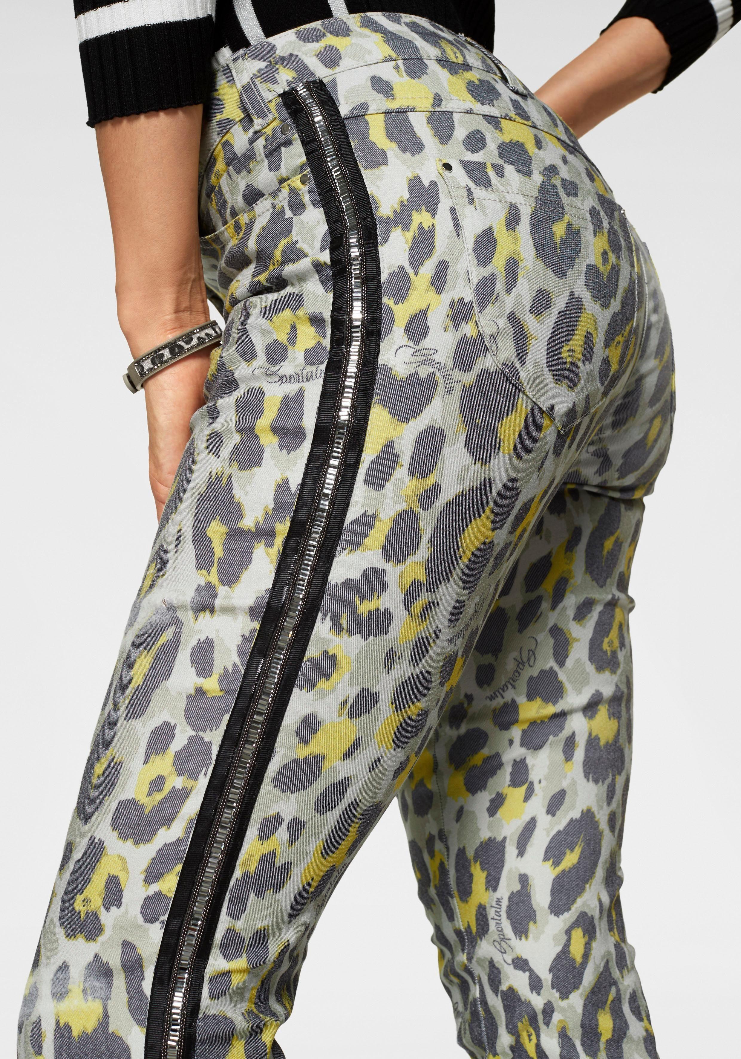 Sportalm Kitzbühel 5-Pocket-Hose mit Glitzerstreifen an der Seite