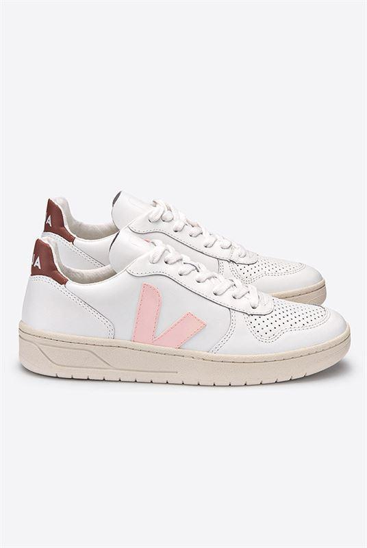Veja Leather V-10 Sneaker Extra White