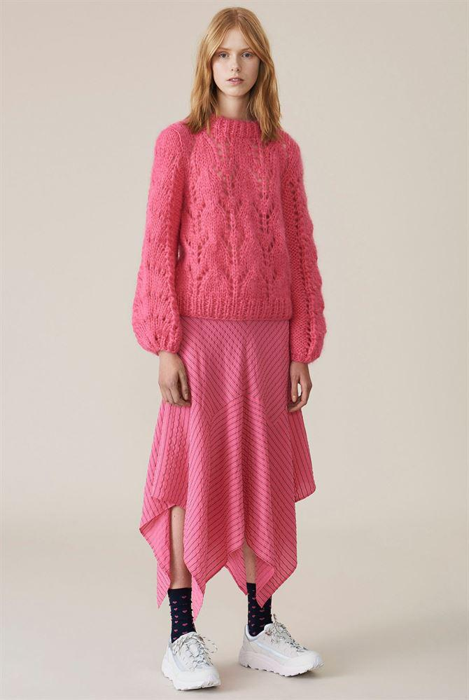 146e371eede8 Lyst - Ganni The Julliard Mohair Hot Pink in Pink