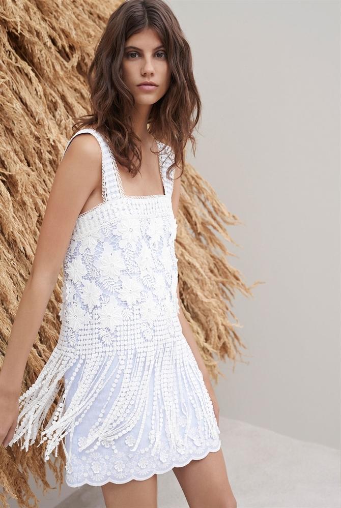 17b47830628 Alexis Fulton Dress Stripe Embroidery in Blue - Lyst