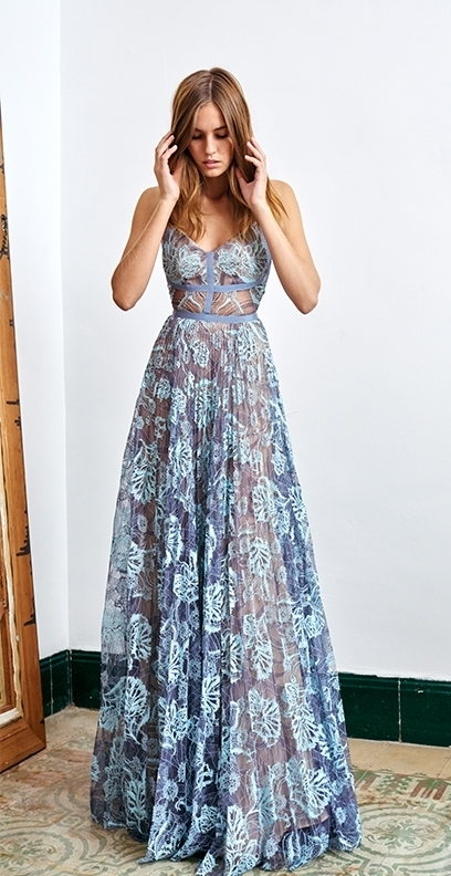 Lyst - Alexis Isabella Lace Gown in Blue