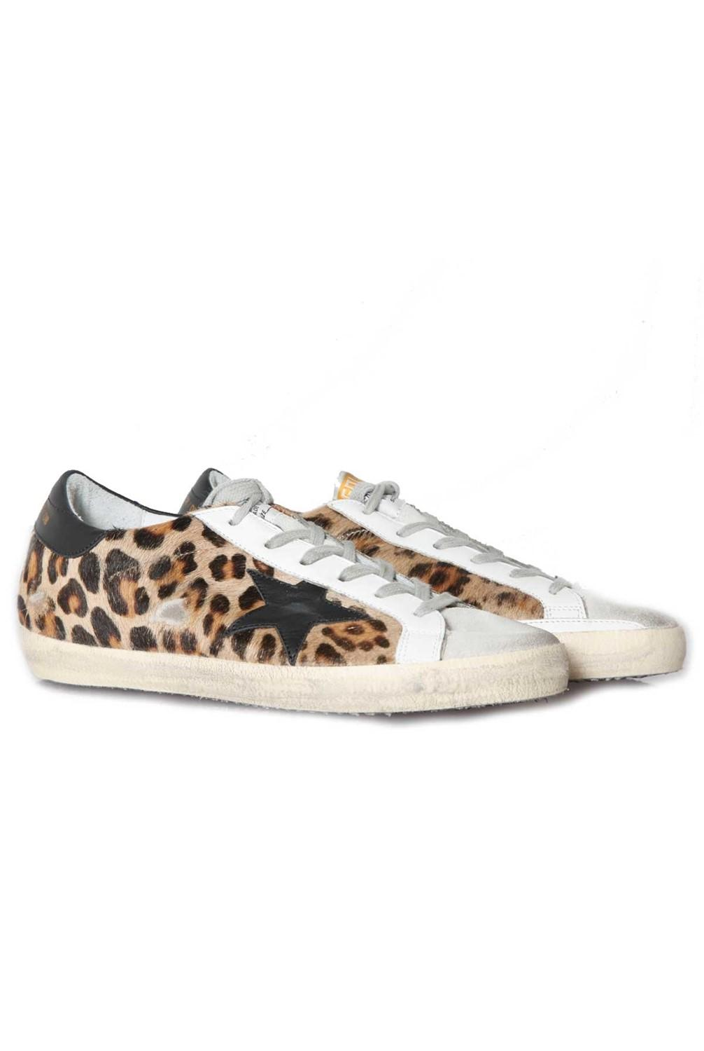 2e4e2a53c2914 Golden Goose Deluxe Brand Sneakers Superstar Snow Leopard Black Star ...