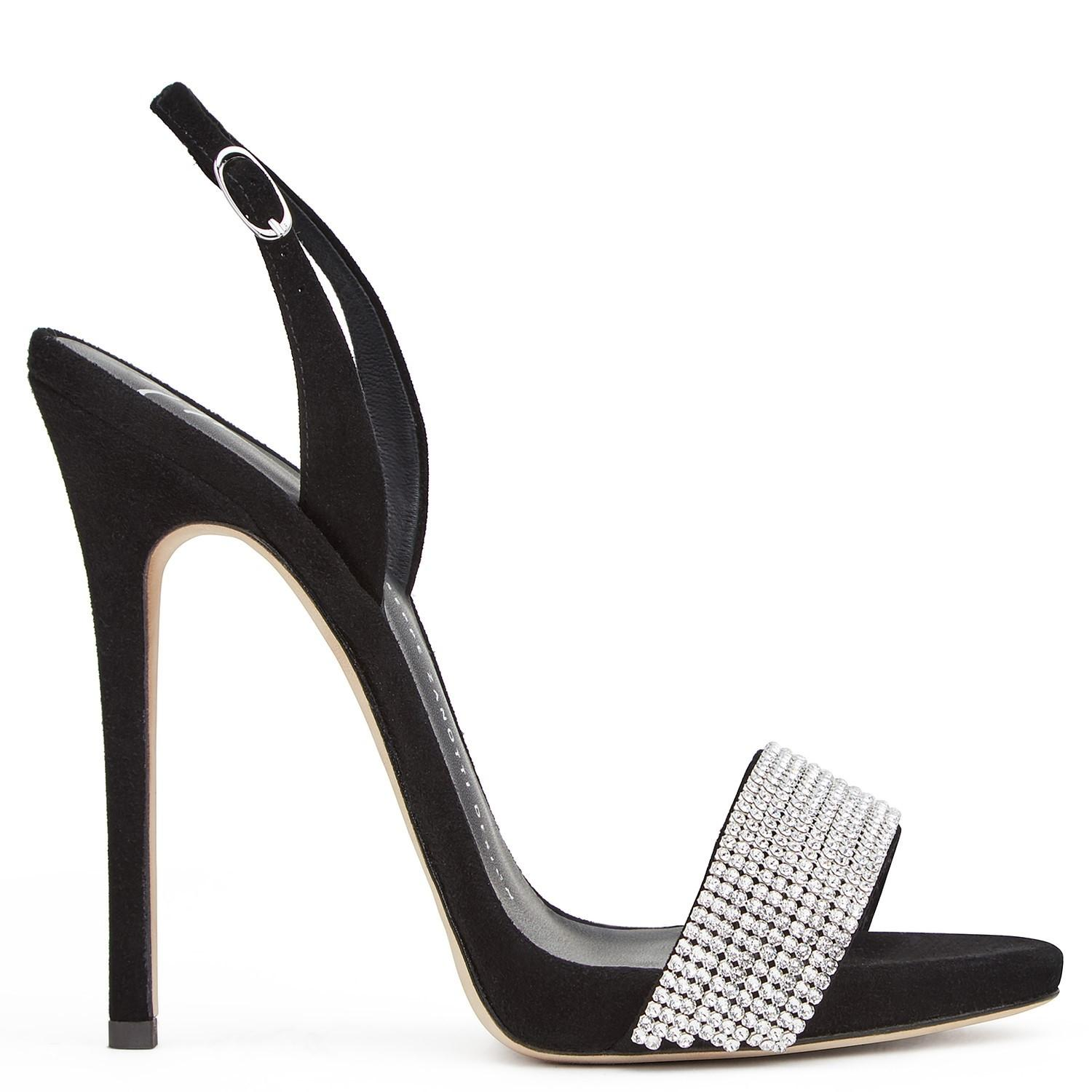 25f968a46 Lyst - Giuseppe Zanotti Sophie Crystal Sandals in Black