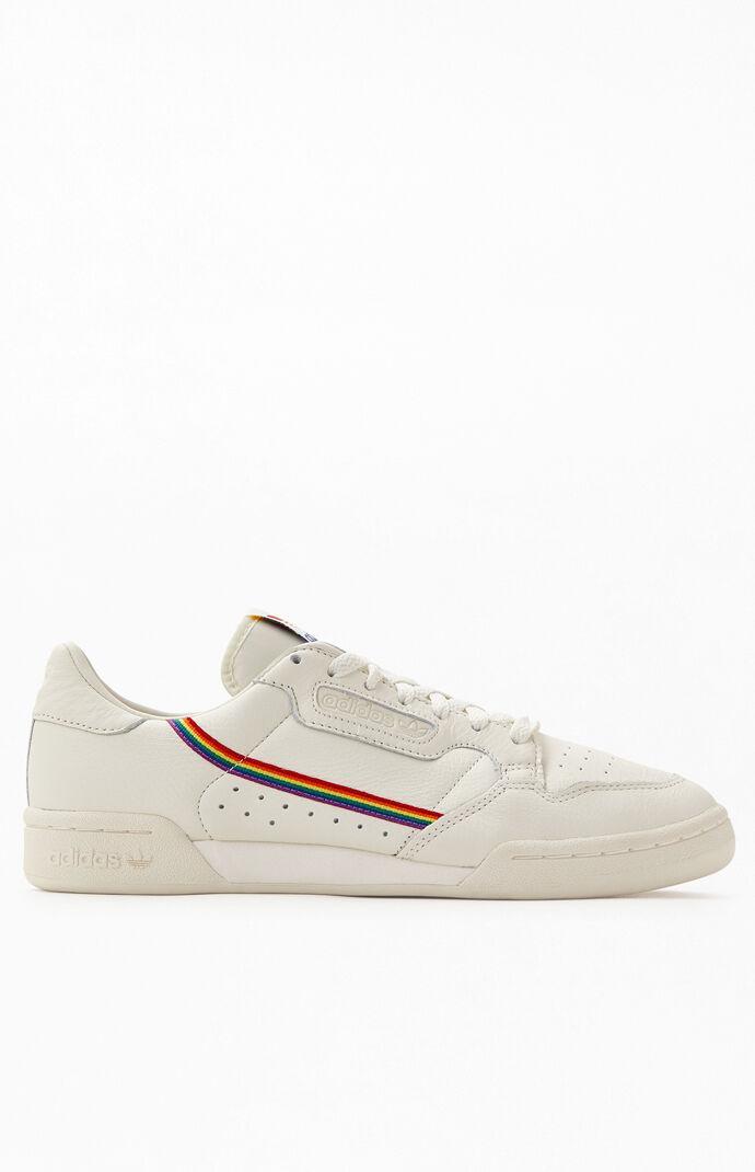 white adidas shoes with rainbow stripes off 66% - www.usushimd.com