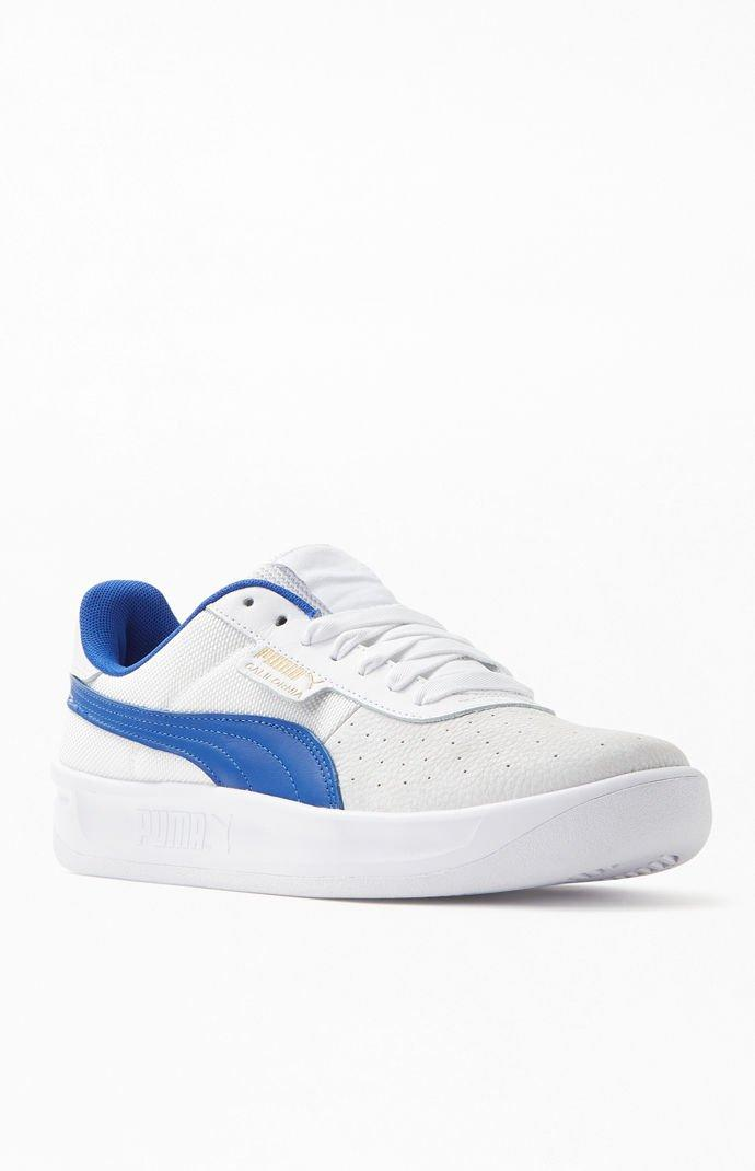 883b0be752 Lyst - PUMA White   Blue California Shoes in Blue for Men