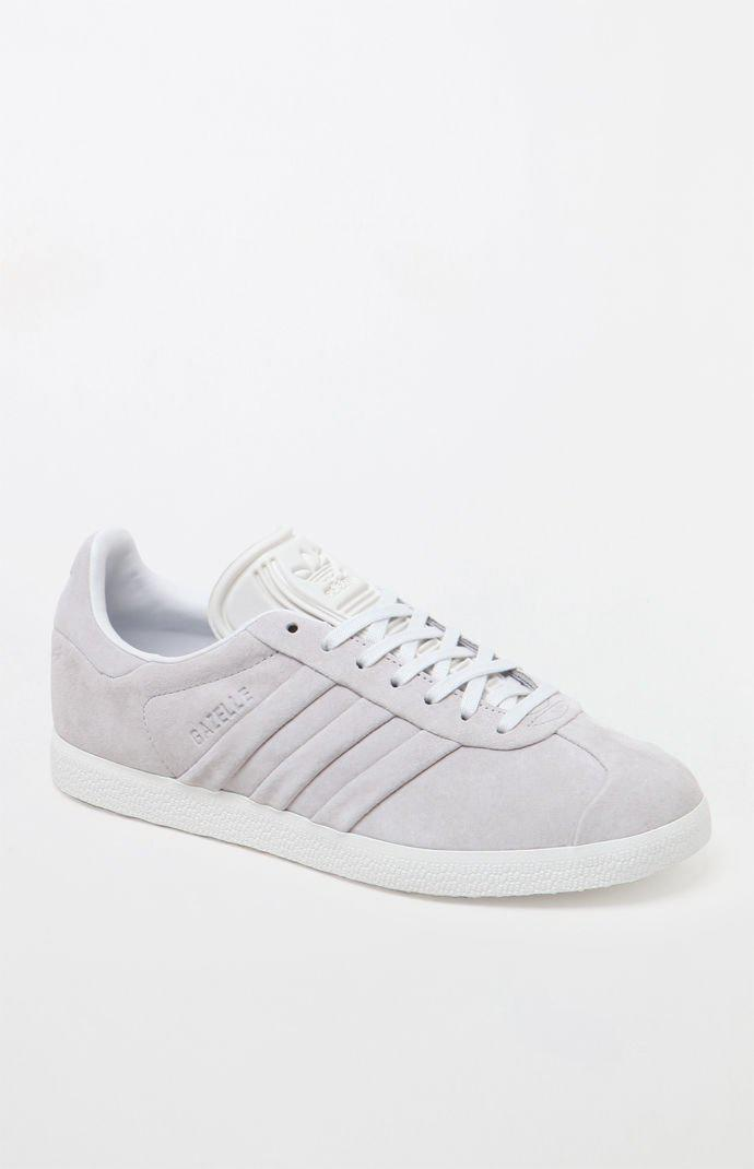 separation shoes d2f3f 83c58 Adidas - Womens Gray Gazelle Stitch And Turn Sneakers - Lyst. View  fullscreen