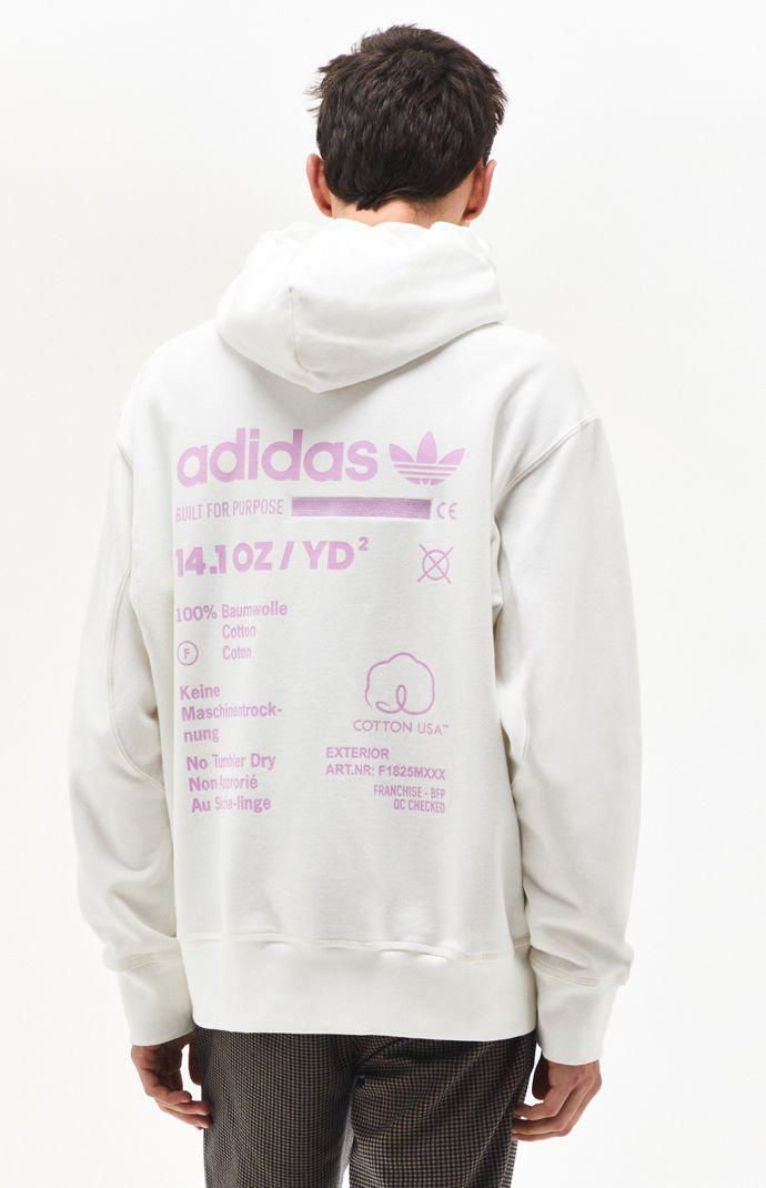 448bb3e5 adidas Kaval Pullover Hoodie in White for Men - Lyst