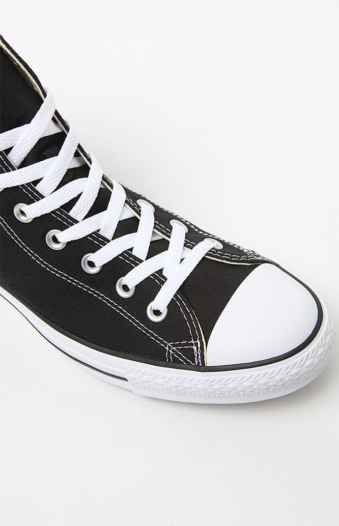 3e99515258639b Lyst - Converse Chuck Taylor Black   White High Top Shoes in Black ...