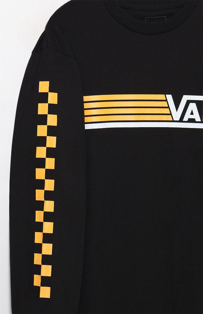 26409a11 Vans Black Line Up Long Sleeve T-shirt for men
