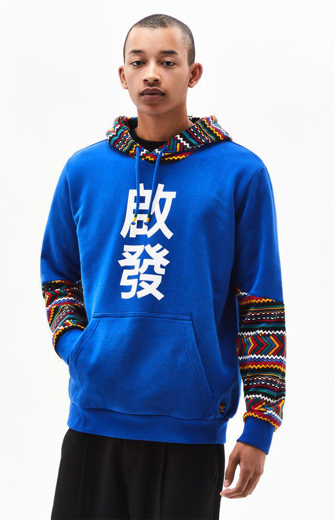 NWT Adidas x Pharrell Williams Solar Hu Hoodie Power Blue Sweatshirt EA2468