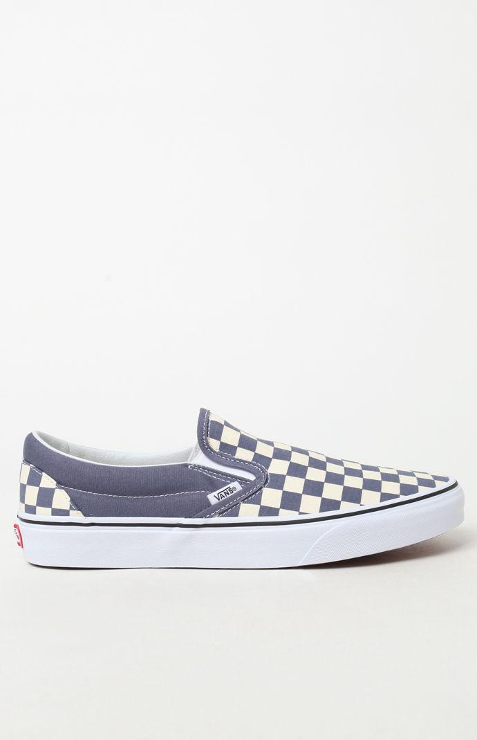4f91768db80a88 Vans - Blue Color Theory Checker Slip-on Shoes for Men - Lyst. View  fullscreen
