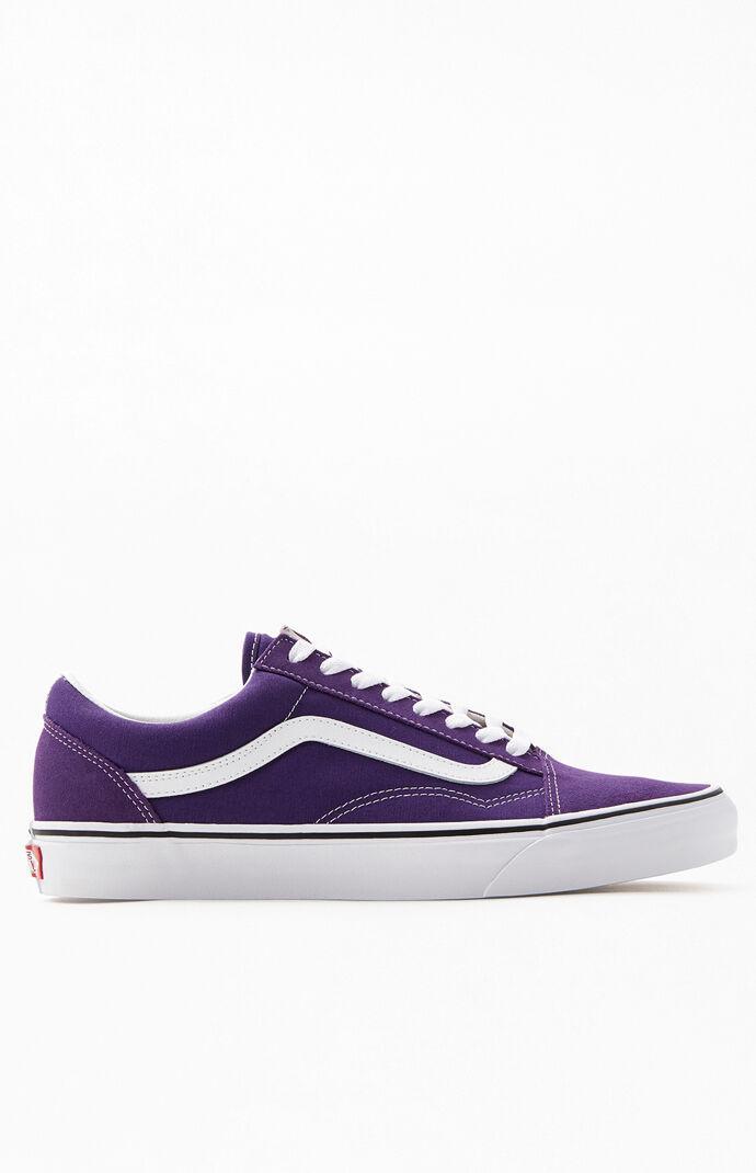 Vans Canvas Violet Old Skool Shoes in