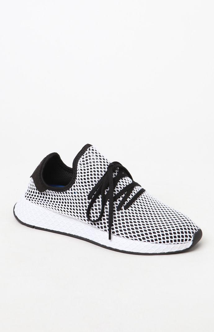 69d5e62fd16b9 Lyst - adidas Black And White Deerupt Runner Shoes in White for Men