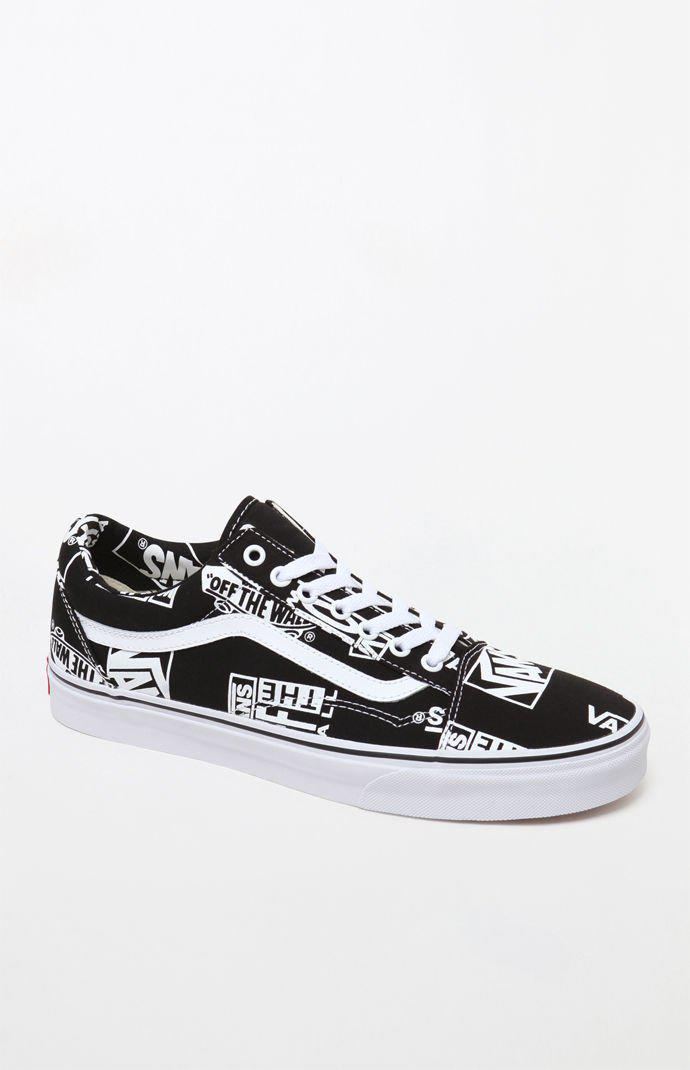 0575267d87 Lyst - Vans Logo Mix Old Skool Shoes in Black for Men