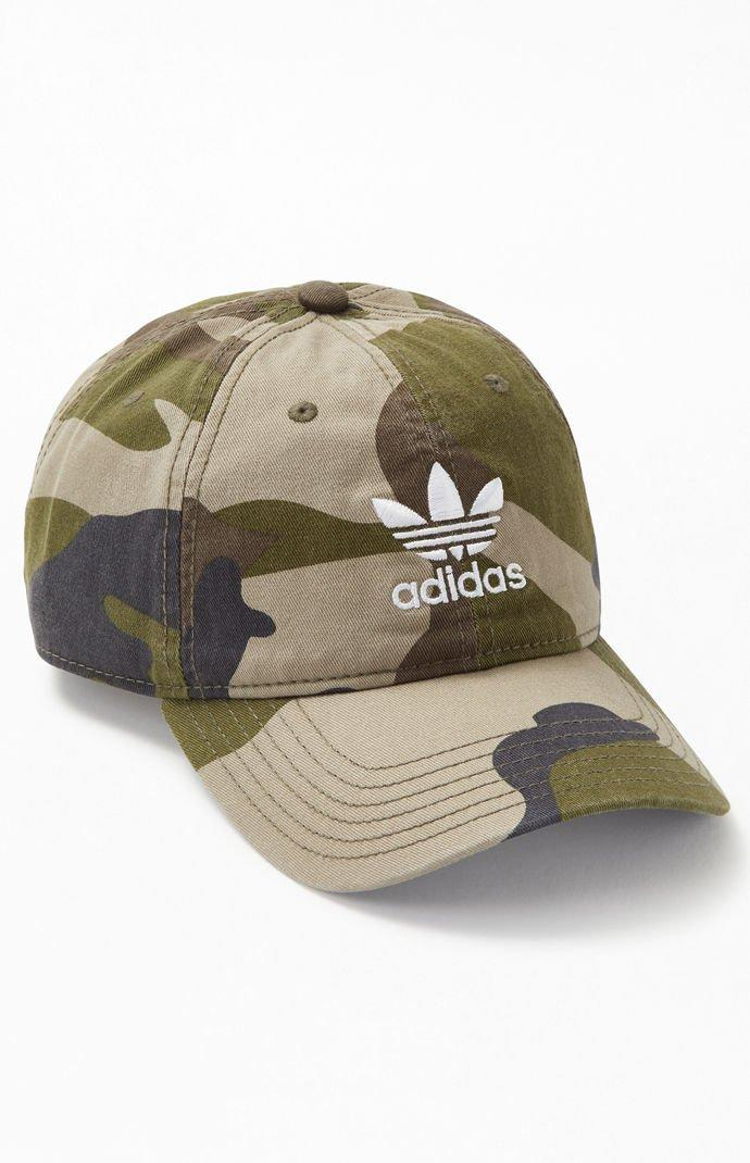de0422c518c Adidas - Green Camouflage Relaxed Strapback Dad Hat for Men - Lyst. View  fullscreen