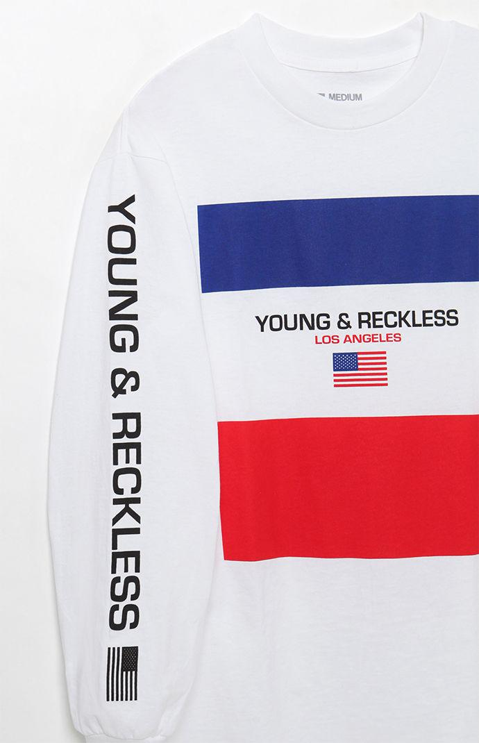 37247939 Young & Reckless Starboard Long Sleeve T-shirt in White for Men - Lyst