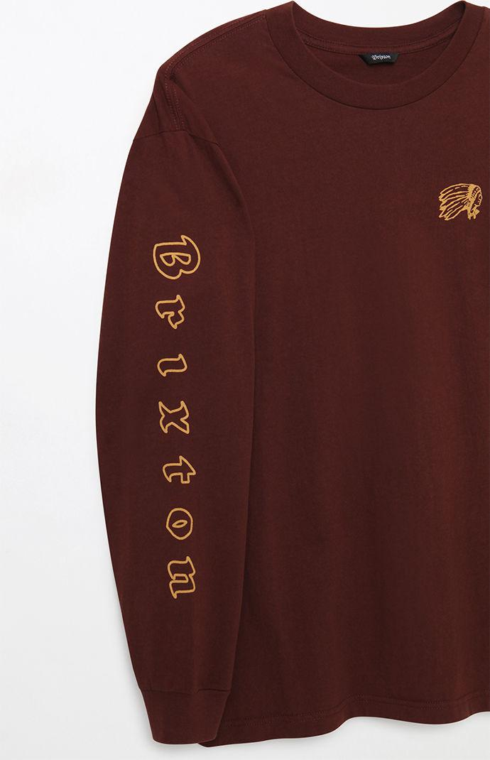 f4ab8cd80711 Lyst - Brixton Primo Long Sleeve Brown T-shirt in Brown for Men