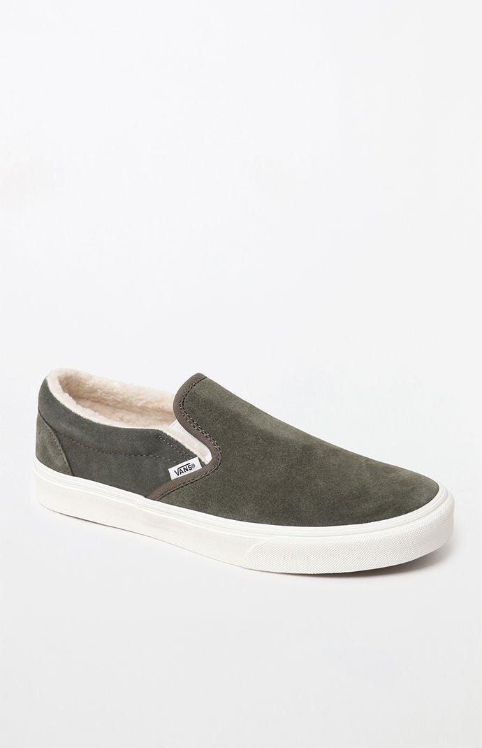 Vans Sherpa Suede Slip-on Shoes in