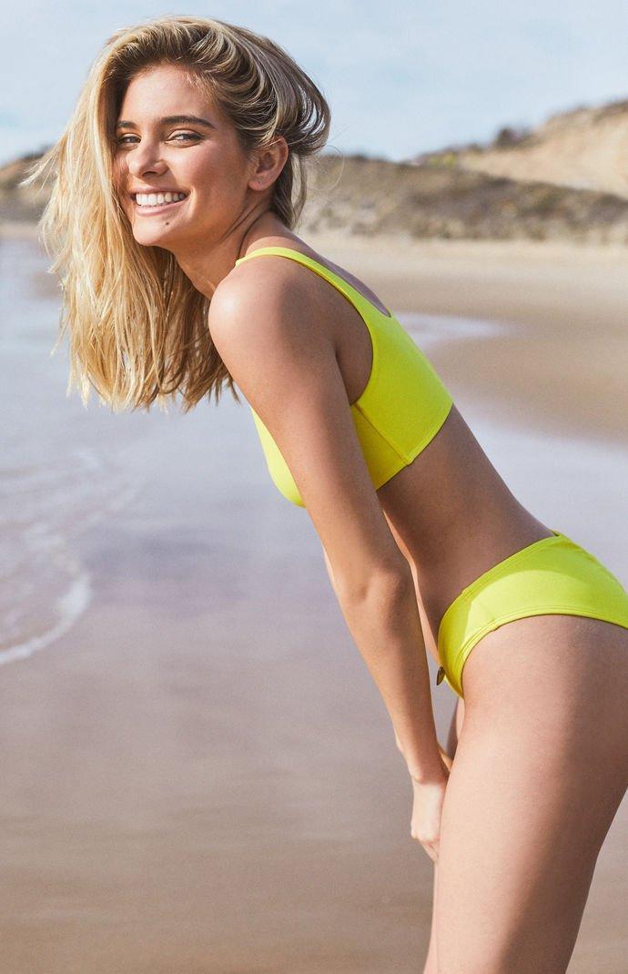 Lyst - Body Glove Gwen Knot Bikini Top in Yellow b2ada819e